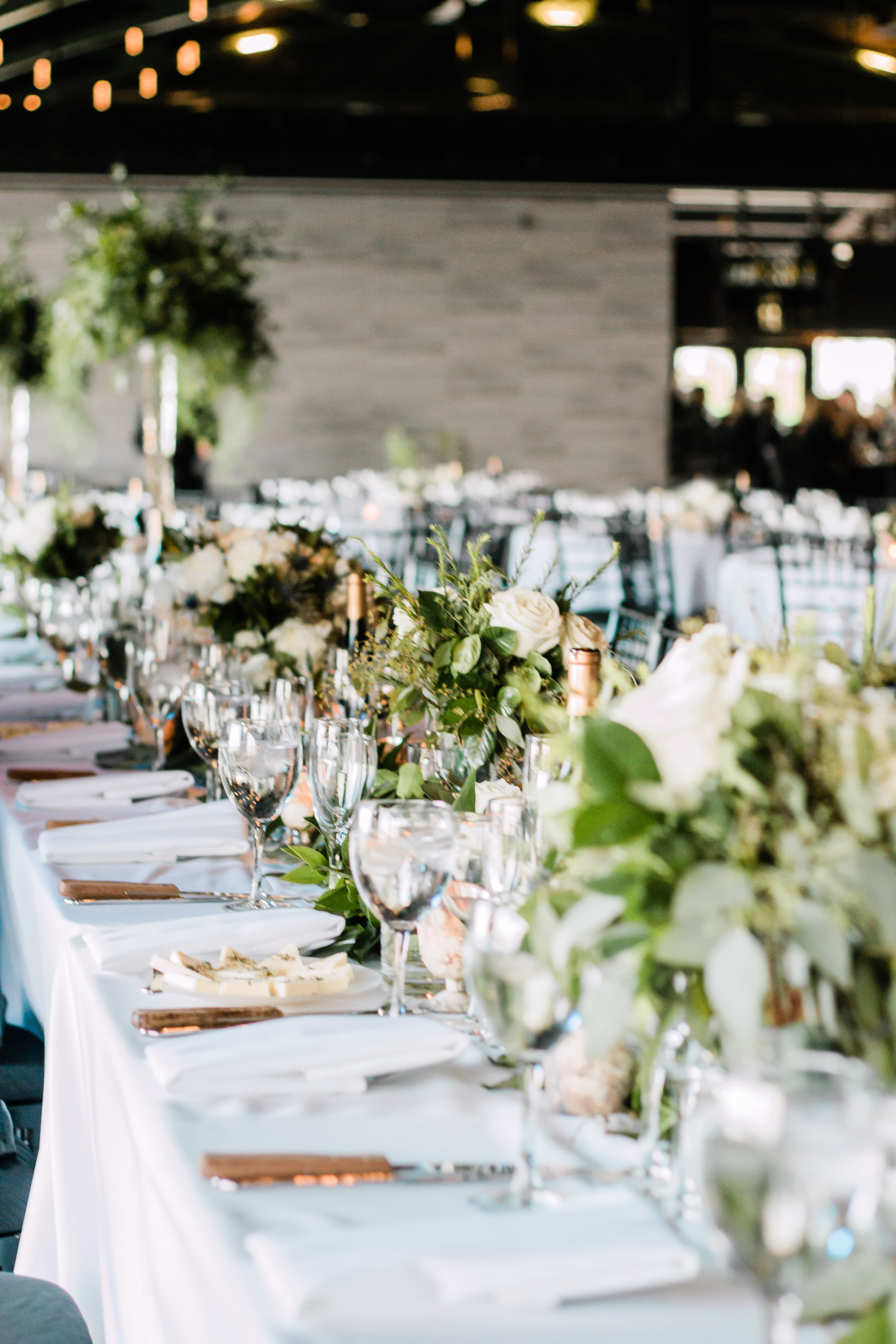Greenery Table Setting Chicago Wedding Lindsey Taylor Photography