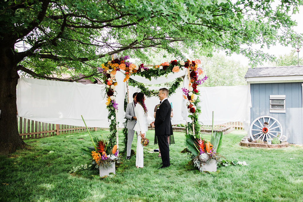 Floral Wedding Arch Chicago Wedding Ella Farrell Weddings