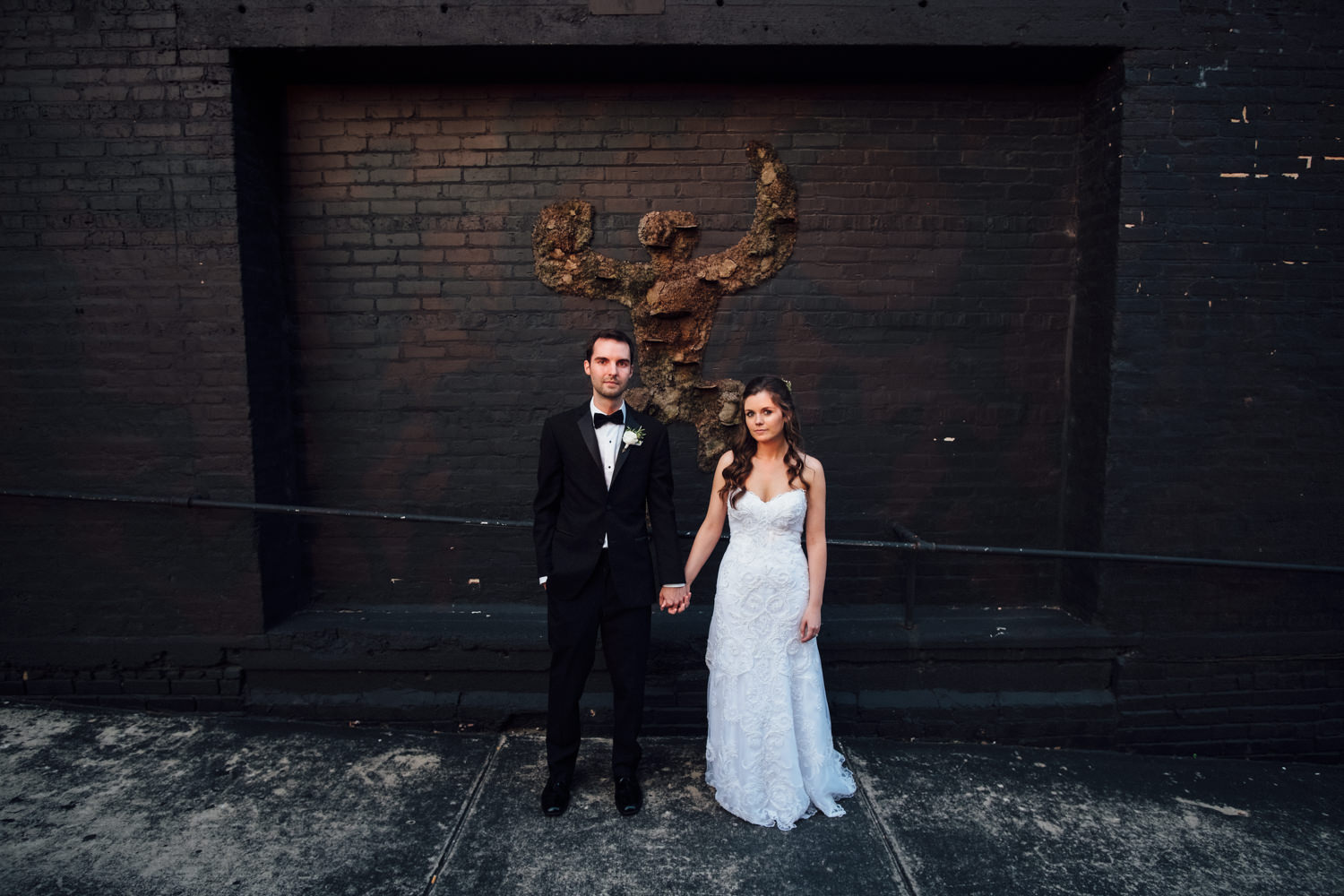 Bride and Groom Portrait Chicago Wedding Cling & Peck