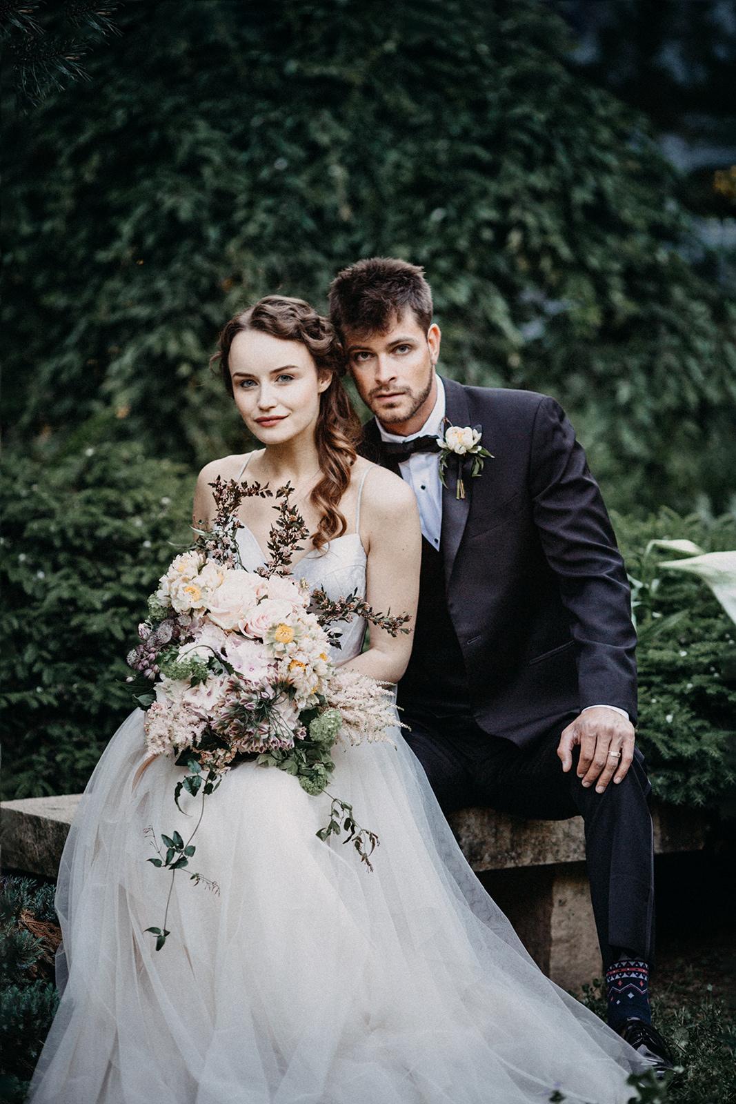 Romantic Bride andGroom Portrait Chicago Wedding lisa kathan photography
