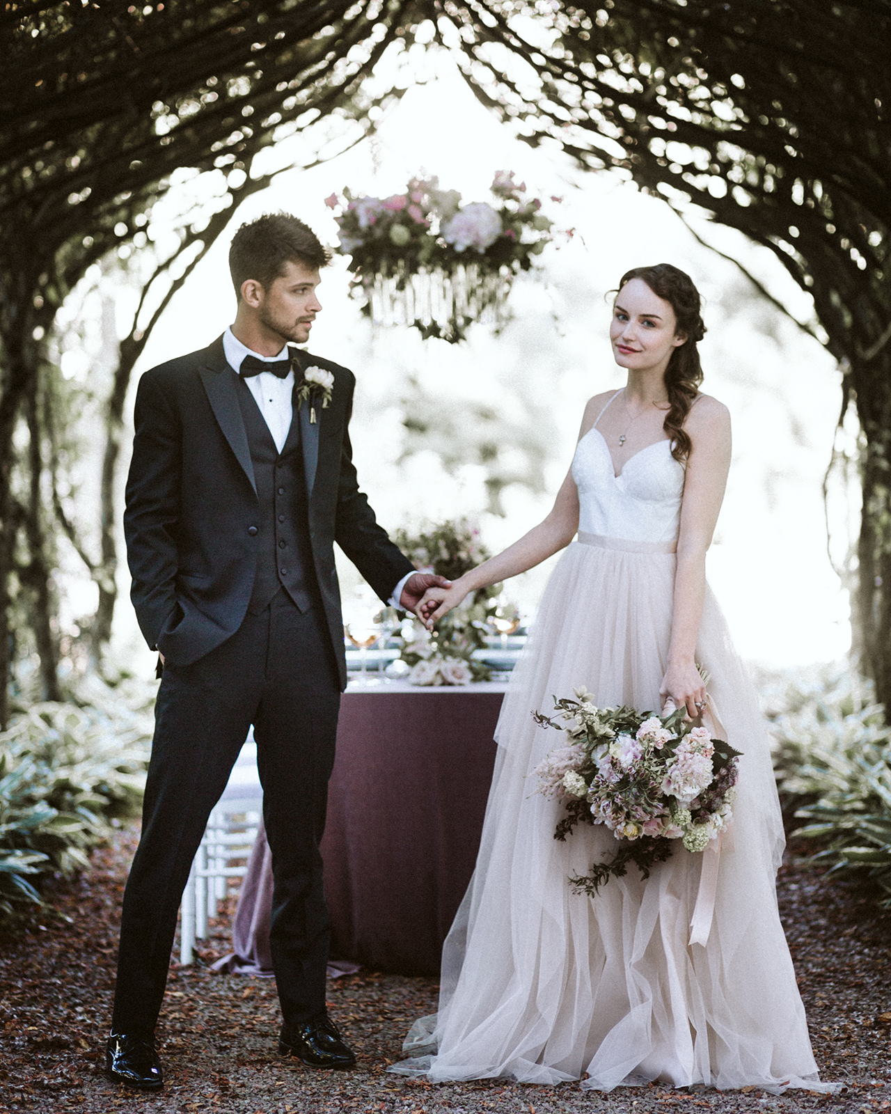 Off White Tulle Bridal Gown Chicago Wedding lisa kathan photography