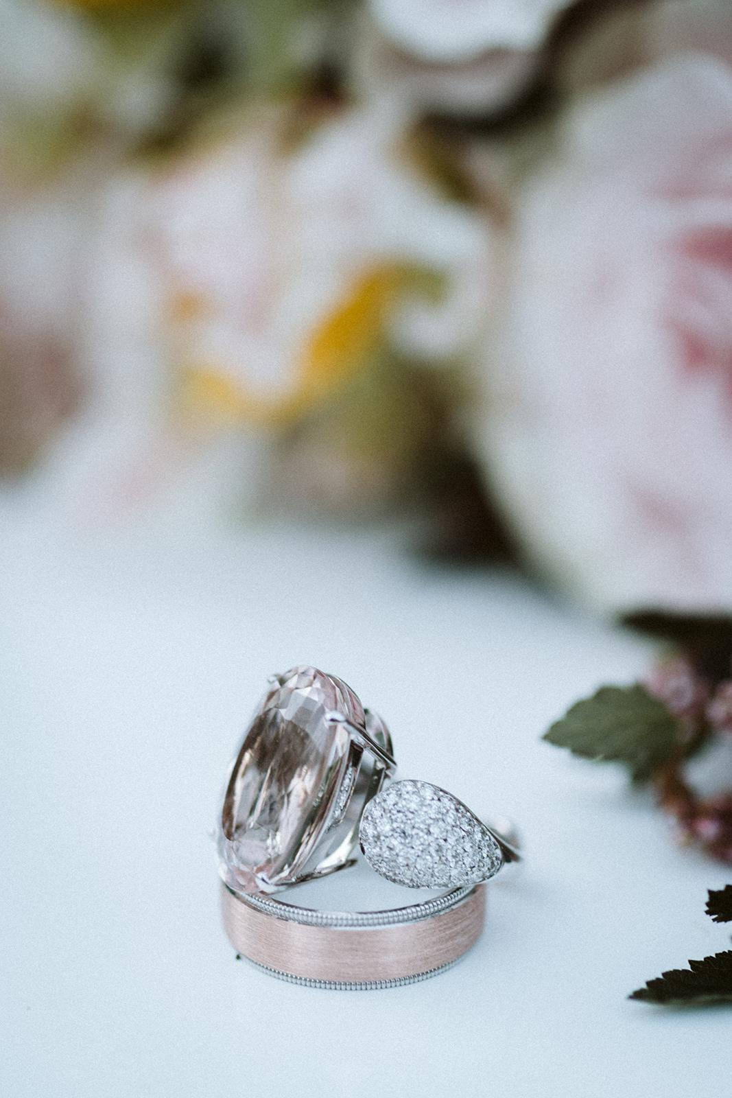 Romantic Rose Engagement Ring Chicago Wedding lisa kathan photography