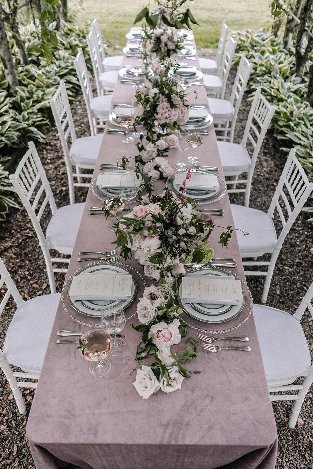Rose Table Setting Chicago Wedding lisa kathan photography