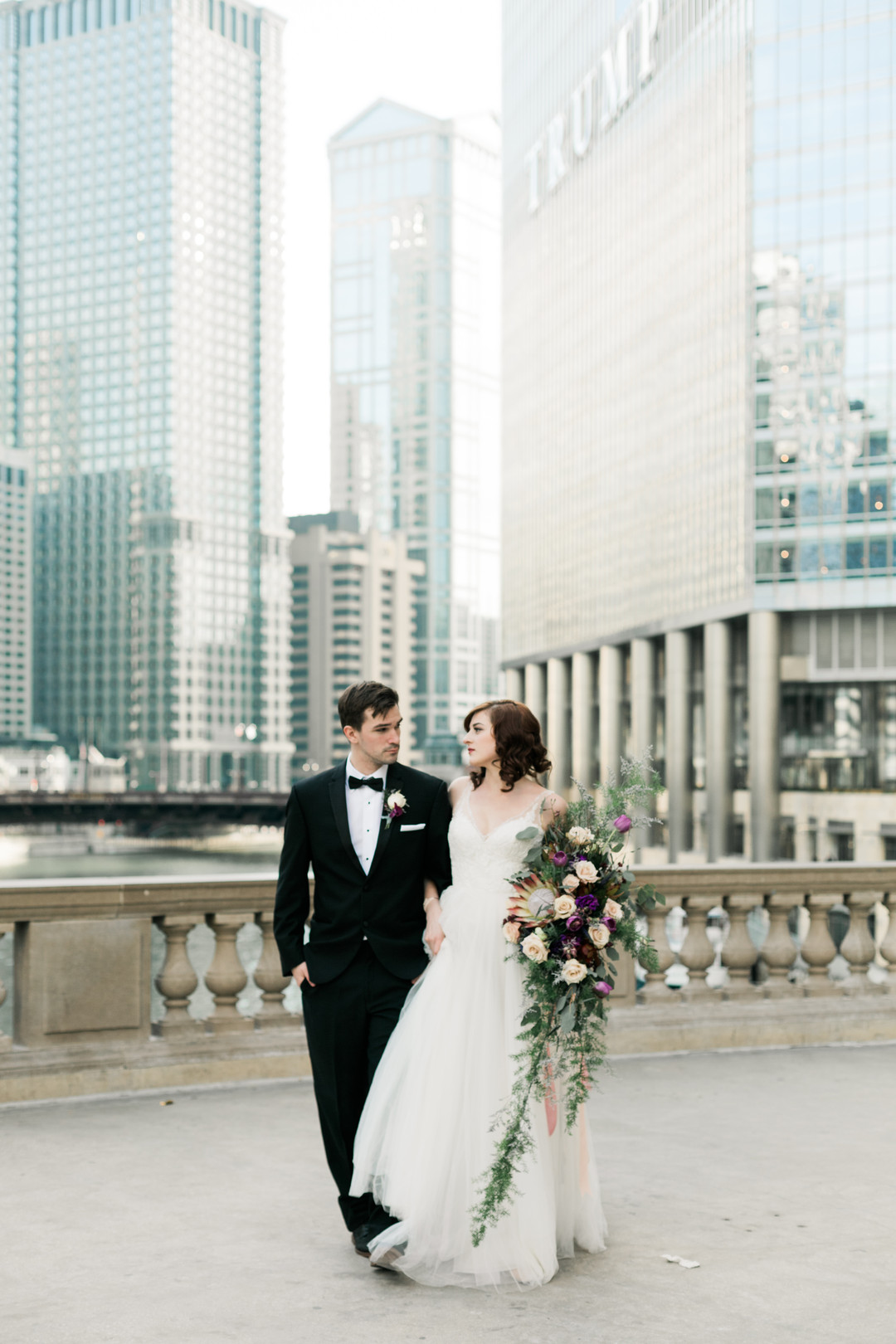 Bride and Groom Portrait Chicago Wedding Stephanie Wood Photography