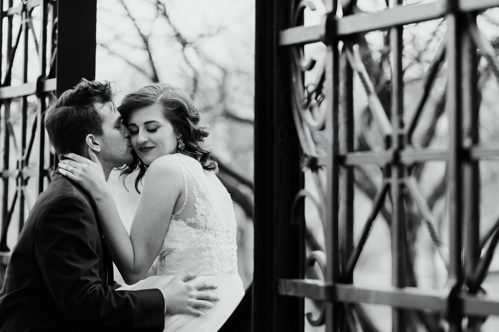 Romantic Bride and Groom Portrait Chicago Wedding Stephanie Wood Photography