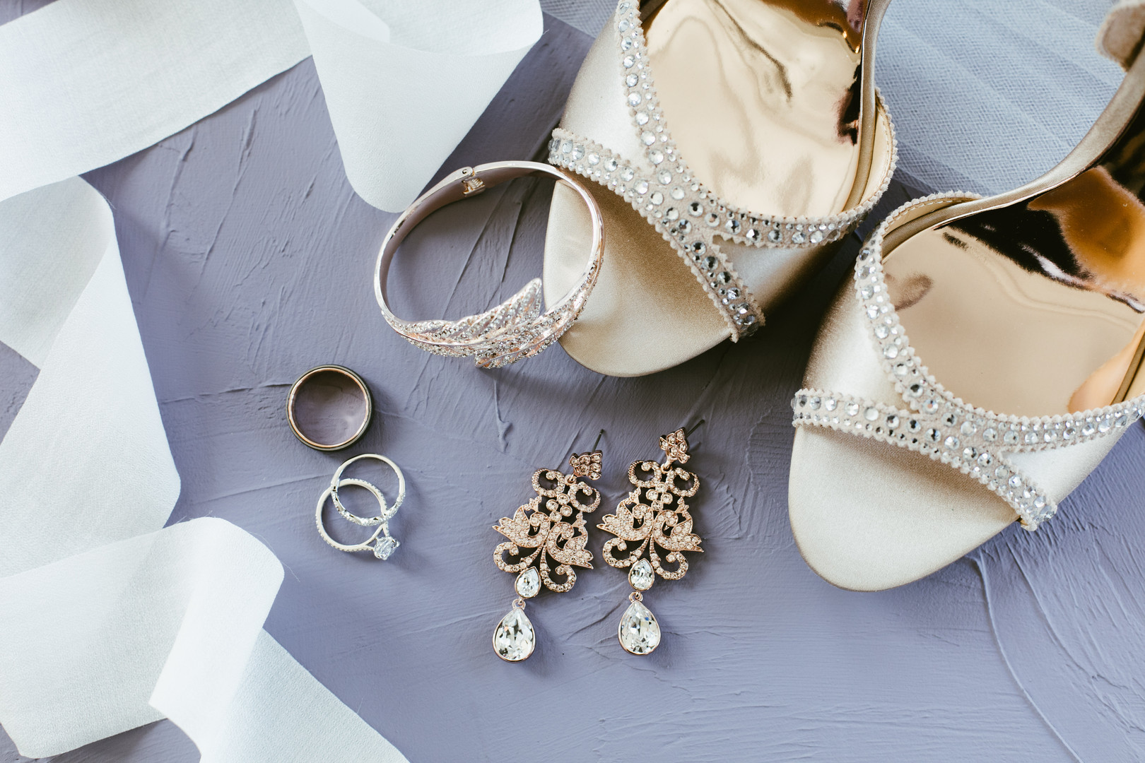 Romantic Bridal Accessories Chicago Wedding Stephanie Wood Photography