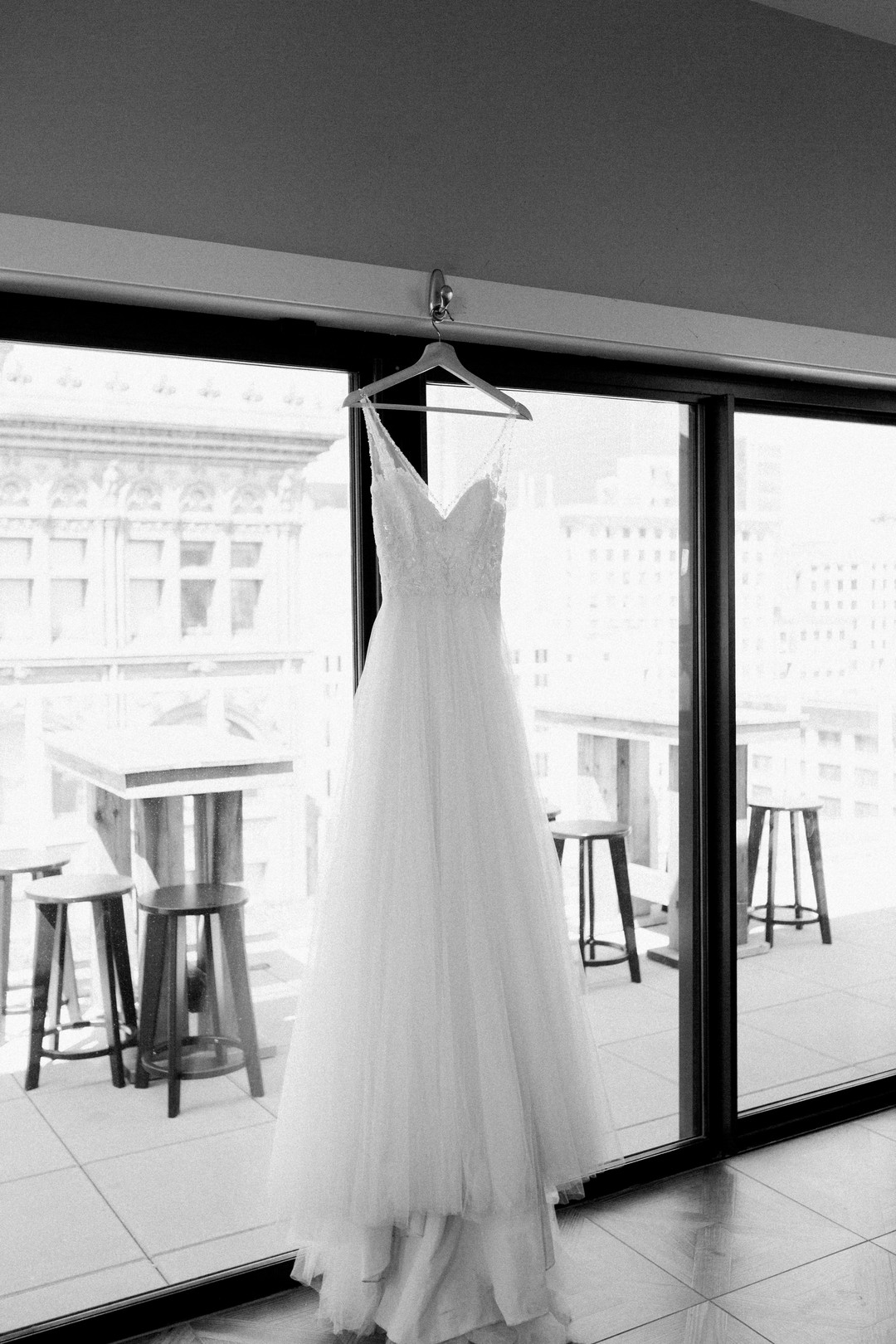 Lace and Tulle Ball Gown Chicago Wedding Stephanie Wood Photography