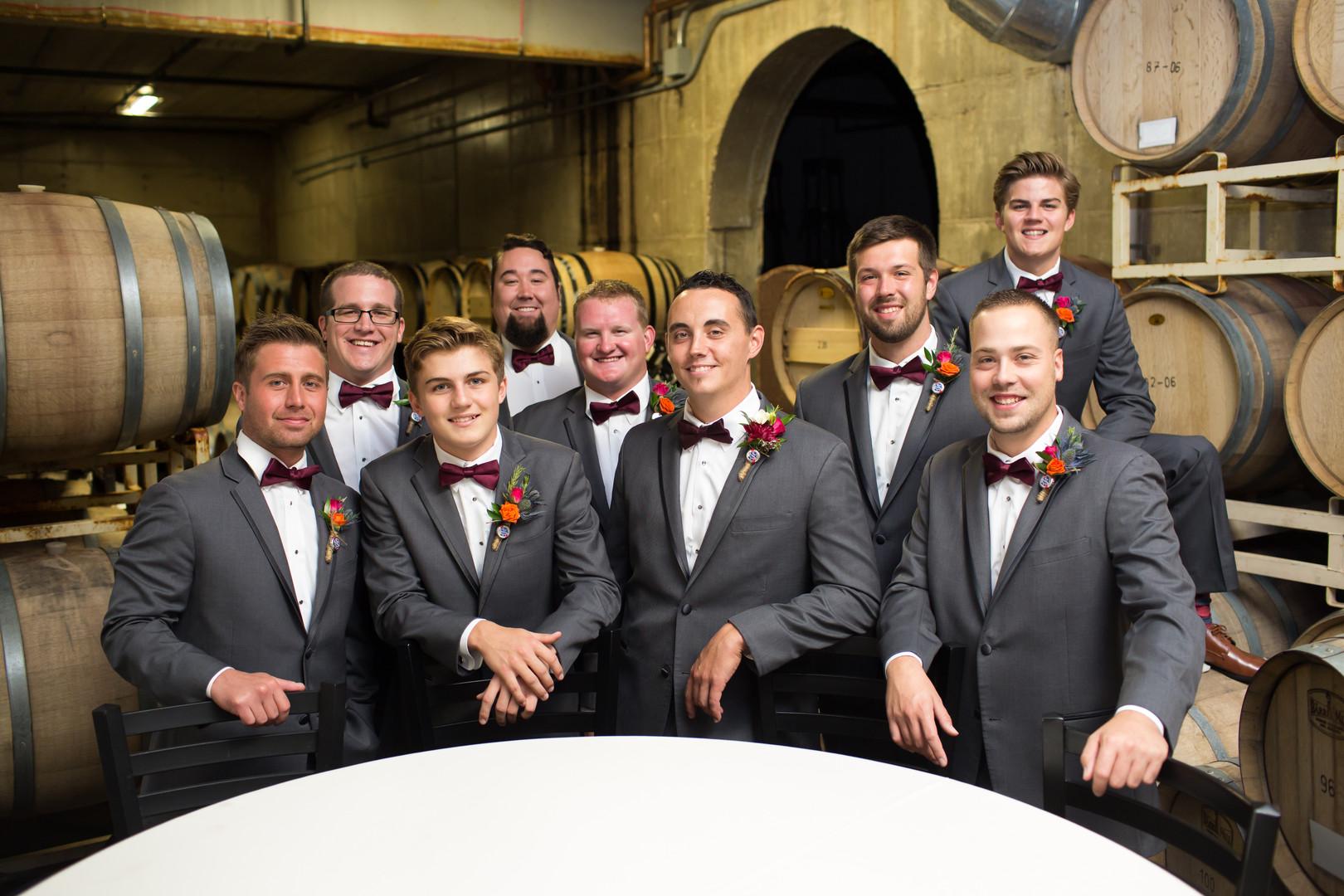 Gray Groomsmen Suits Chicago Wedding Elite Photo