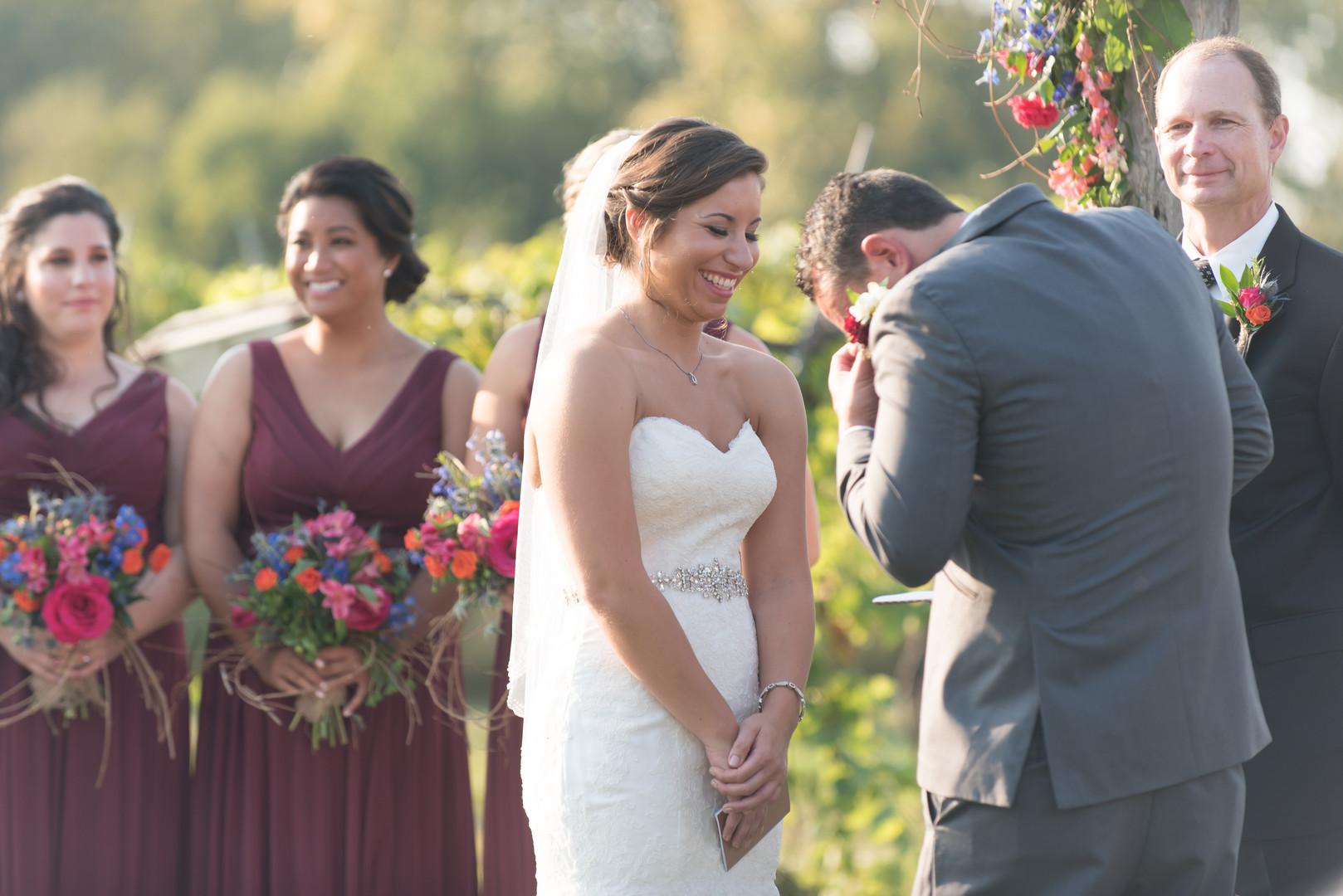 Bride and GroomCeremony Acquaviva Winery Chicago Wedding Elite Photo
