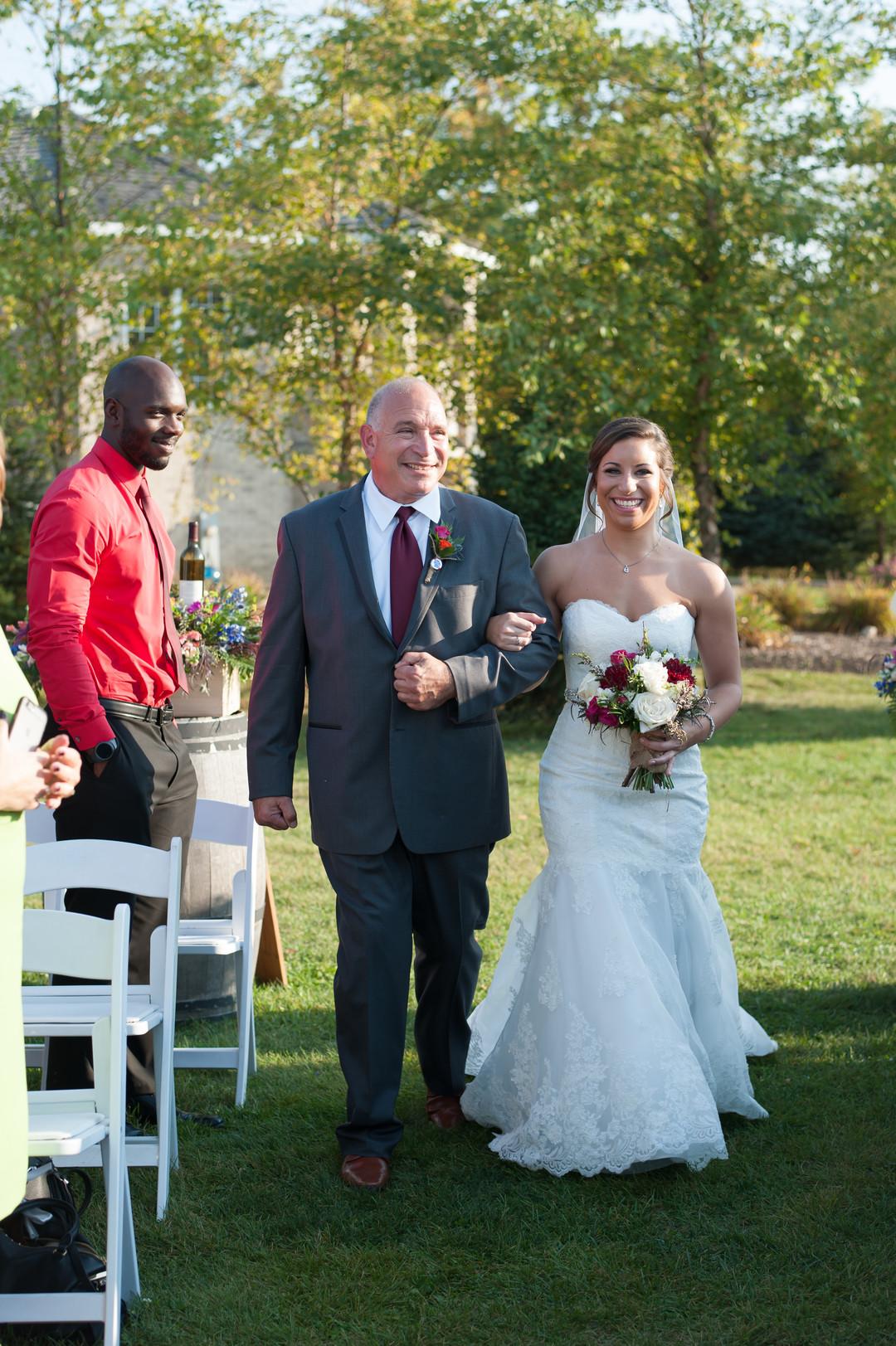 Bridal Ceremony Entrance Chicago Winery Wedding Elite Photo