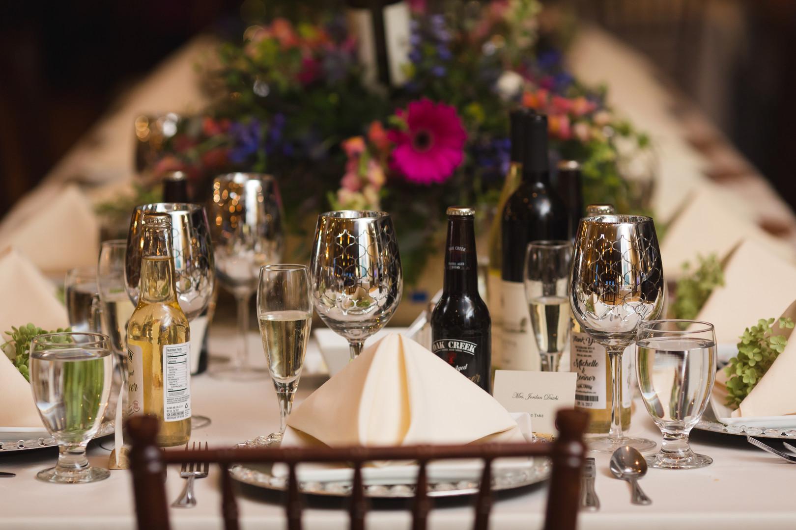 Wedding Table Setting Chicago Winery Wedding Elite Photo