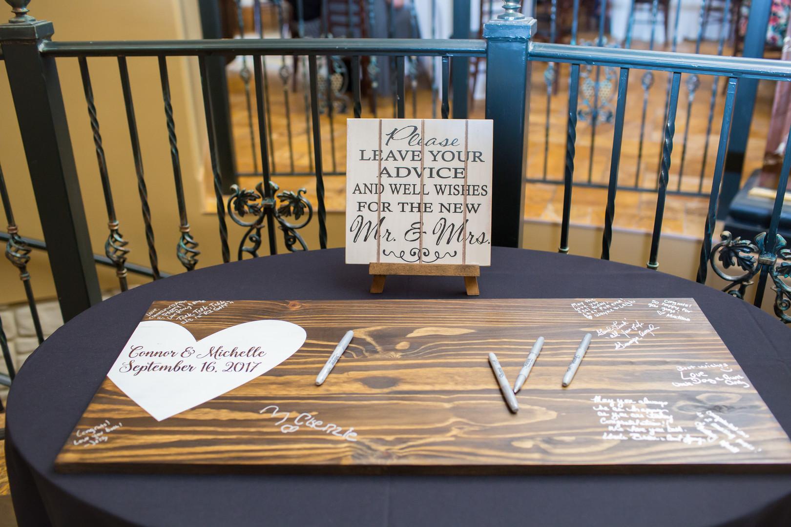 Alternative Wedding Guestbook Wooden Board Chicago Winery Wedding Elite Photo