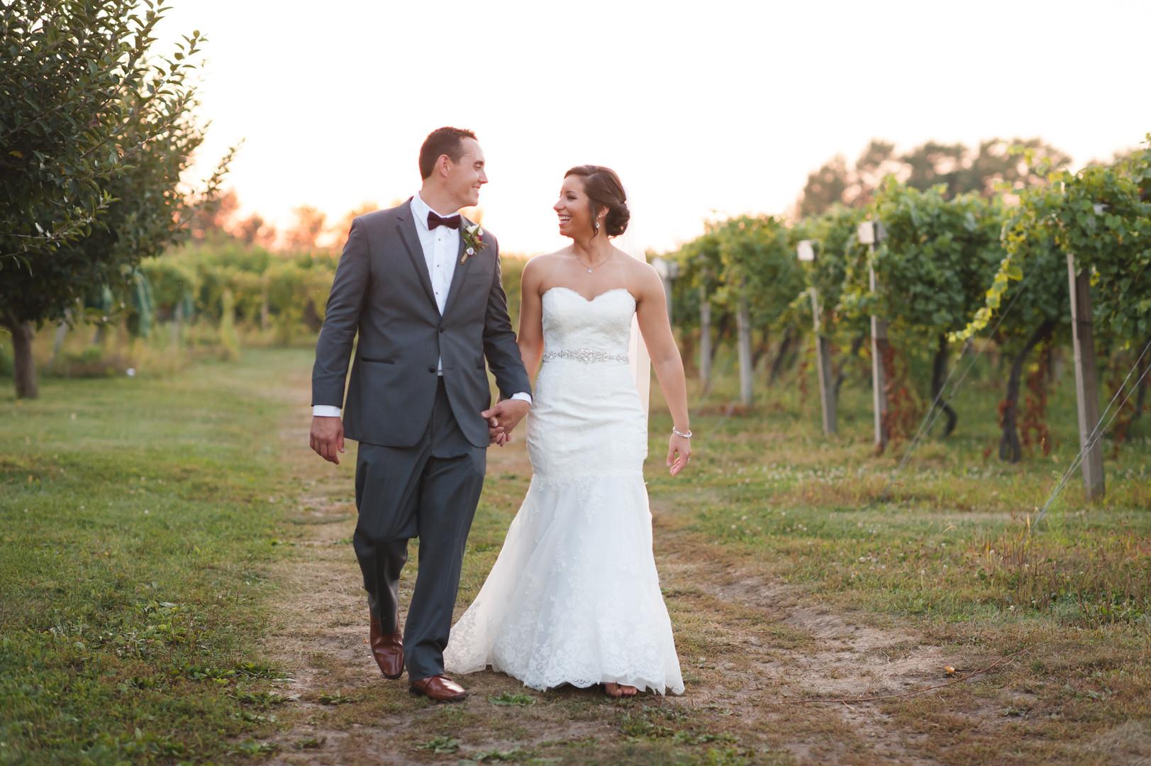 Sunset Bride and Groom Portrait Chicago Winery Wedding Elite Photo