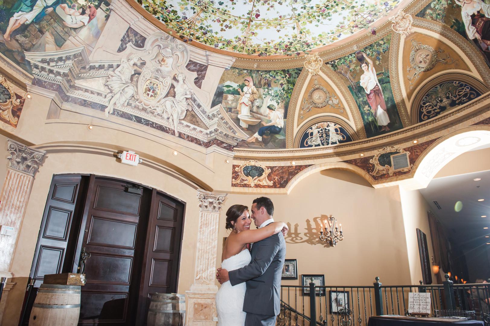 Bride and Groom First Dance Acquaviva Winery Chicago Wedding Elite Photo