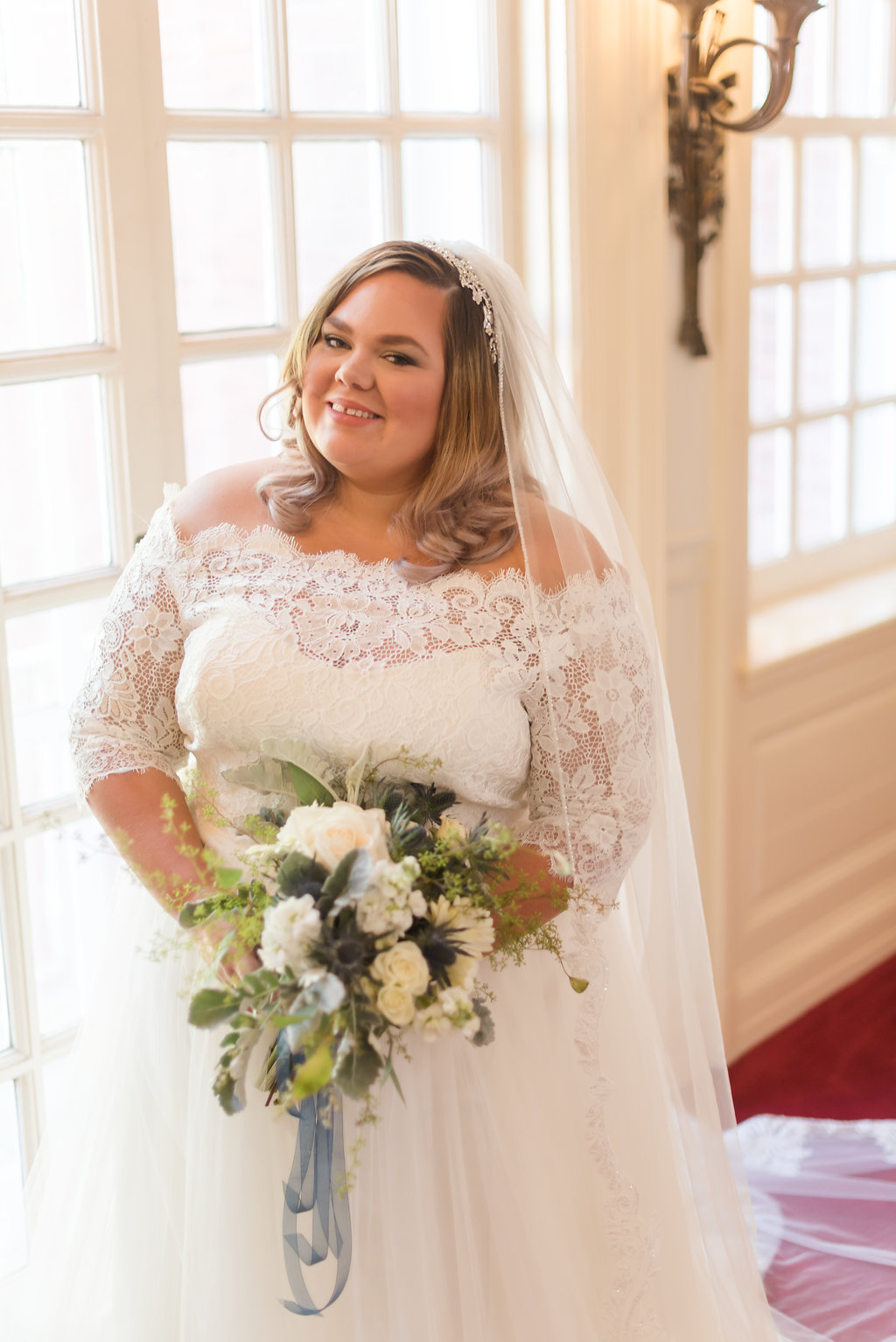 Lace and Tulle Ball Gown Chicago Wedding Rakoteet Photography