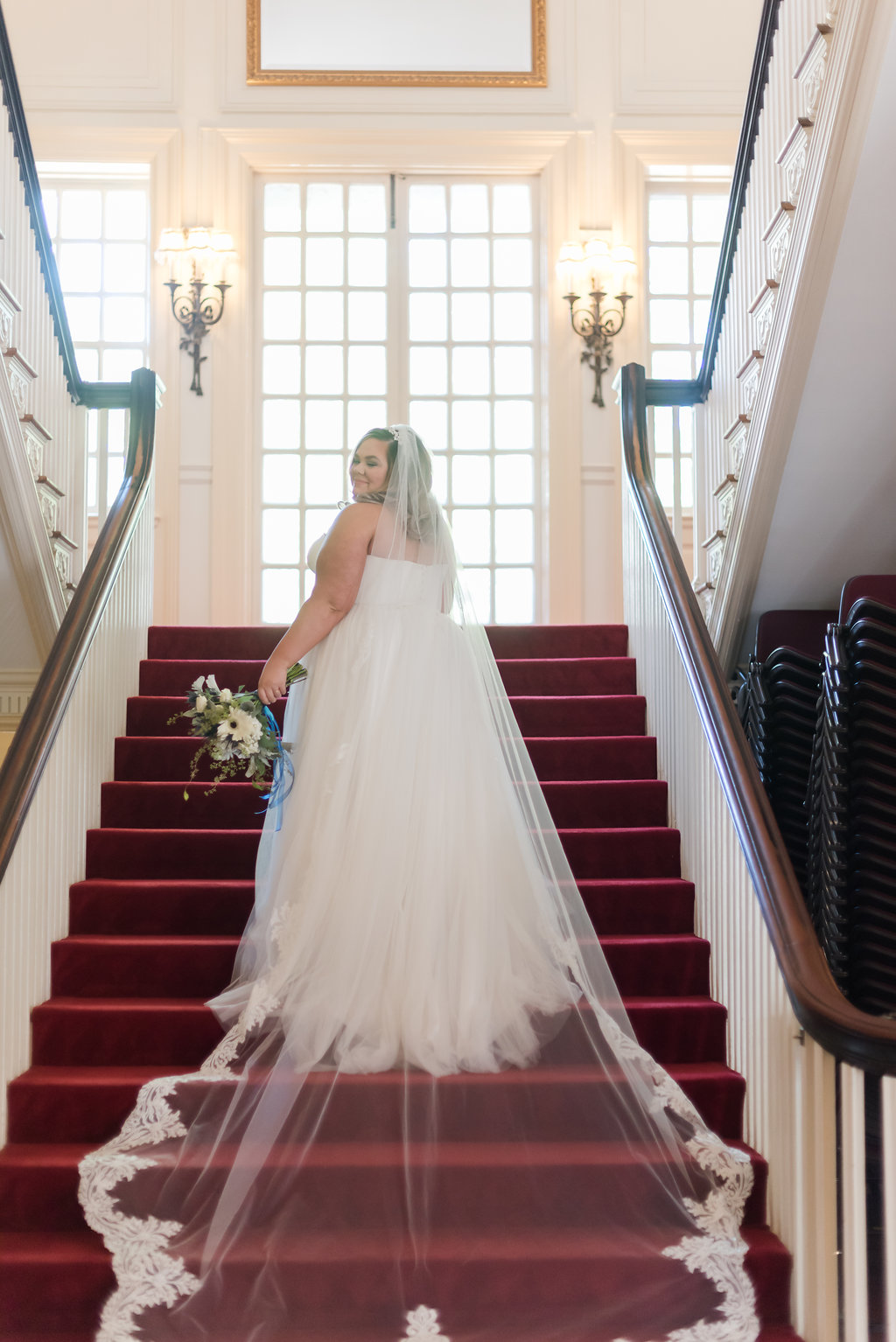 Cathedral Length Wedding Gown Chicago Wedding Rakoteet Photography