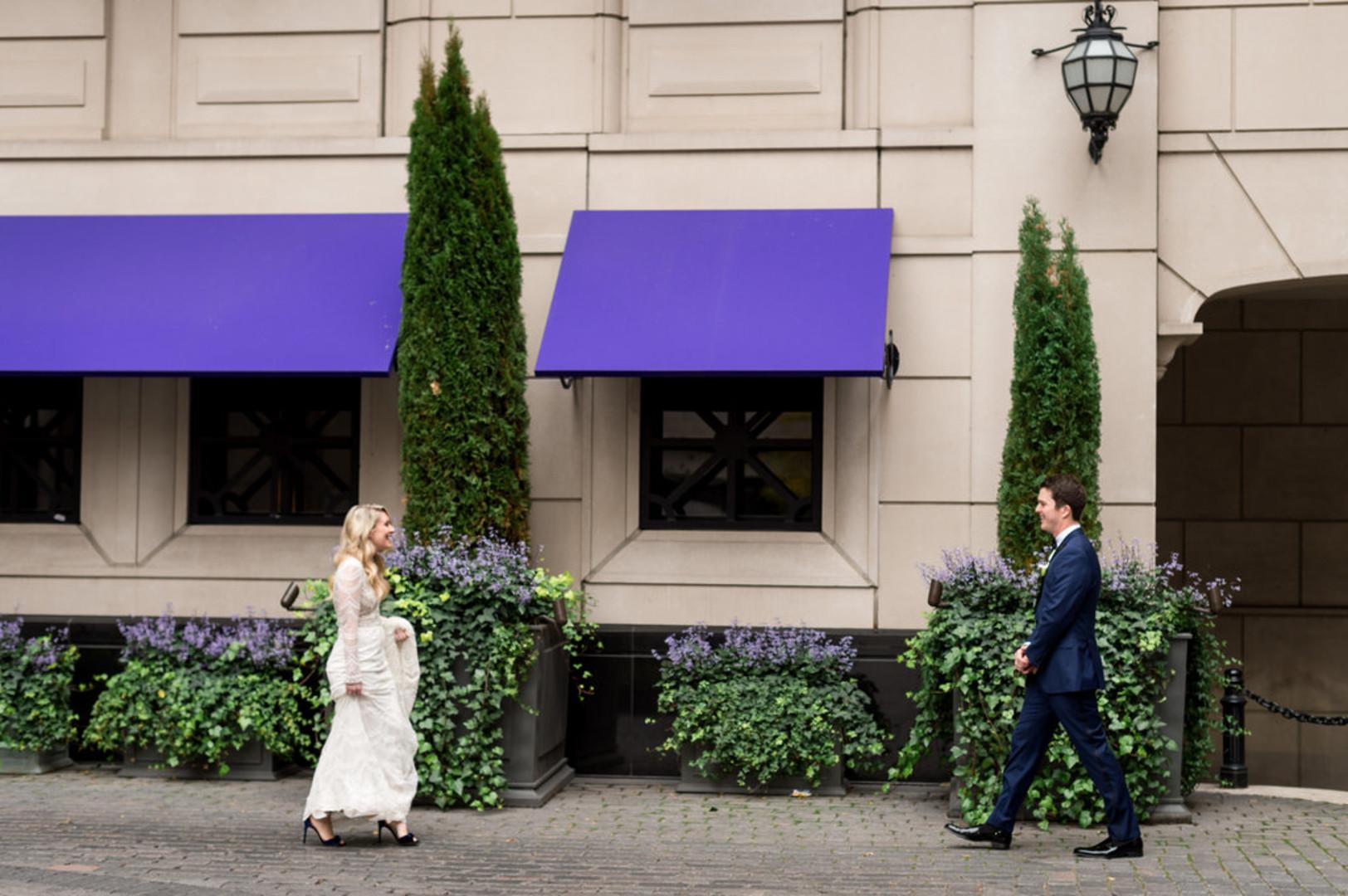 First Look Chicago Wedding Julia Franzosa Photography