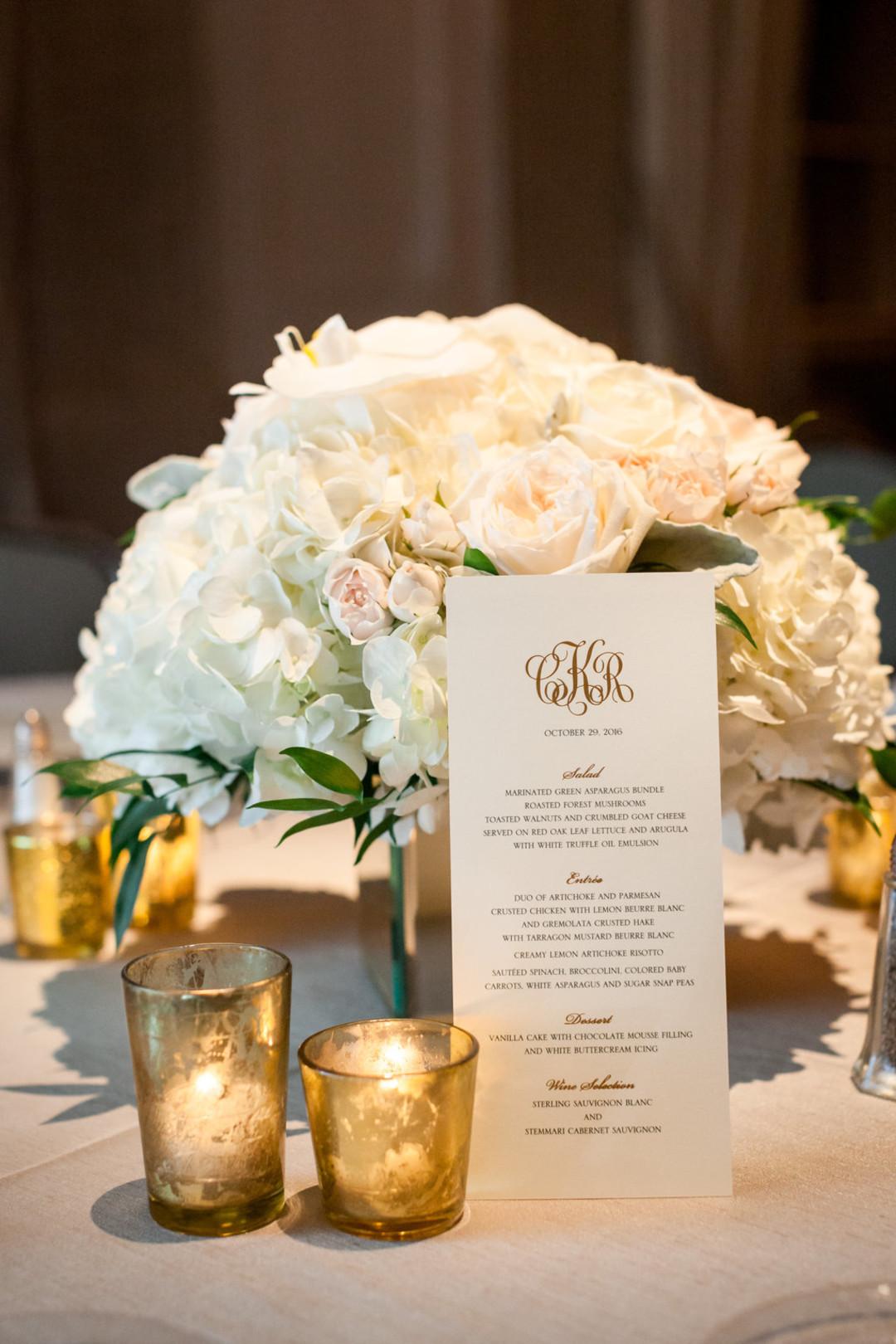 White Rose Center Piece The Standard Room Chicago Wedding Julia Franzosa Photography