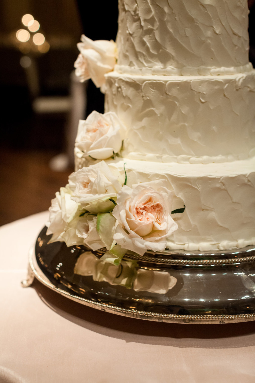 Rose Wedding Cake The Standard Room Chicago Wedding Julia Franzosa Photography