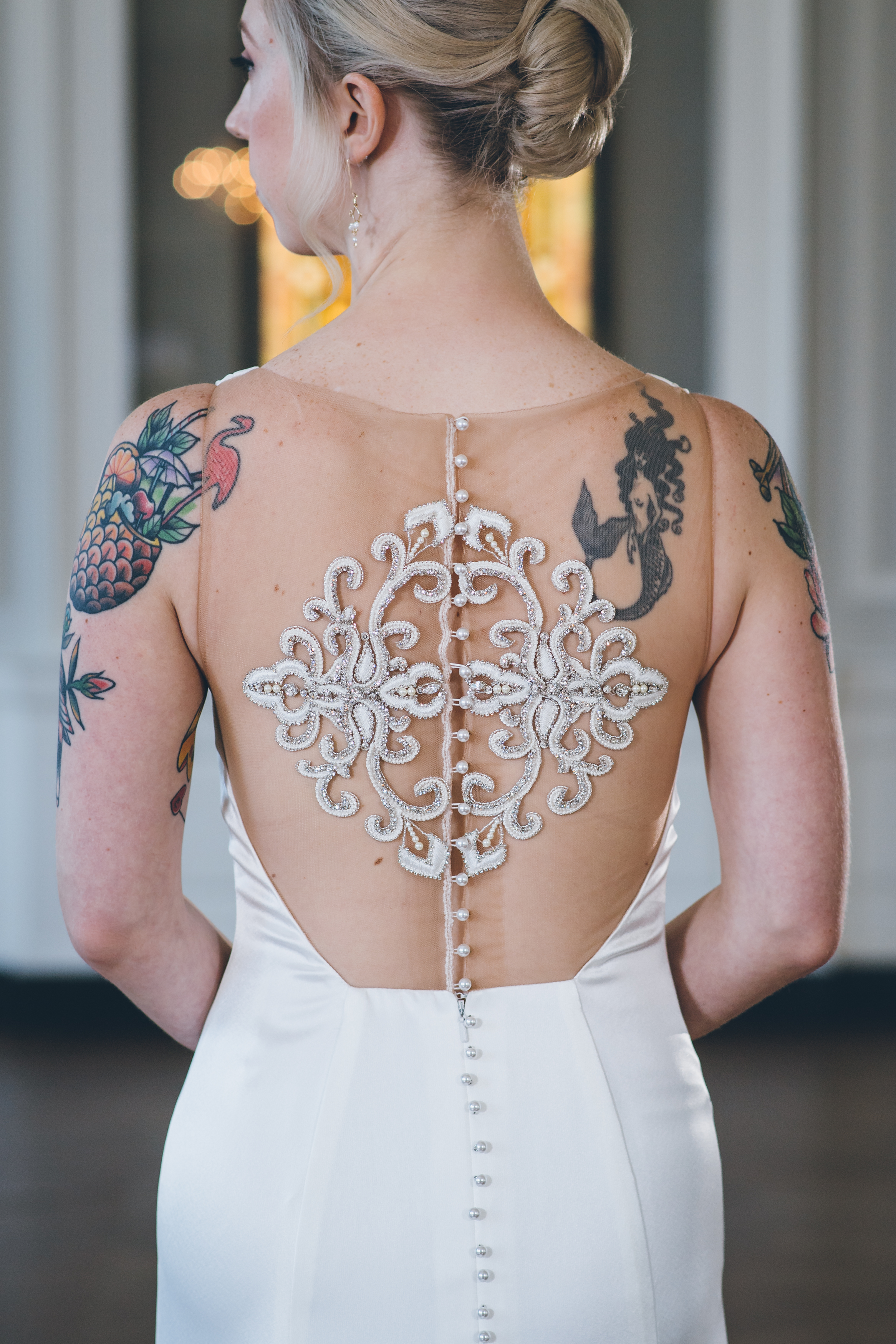 Tattoo Bride Chicago Wedding Ed and Aileen Photography