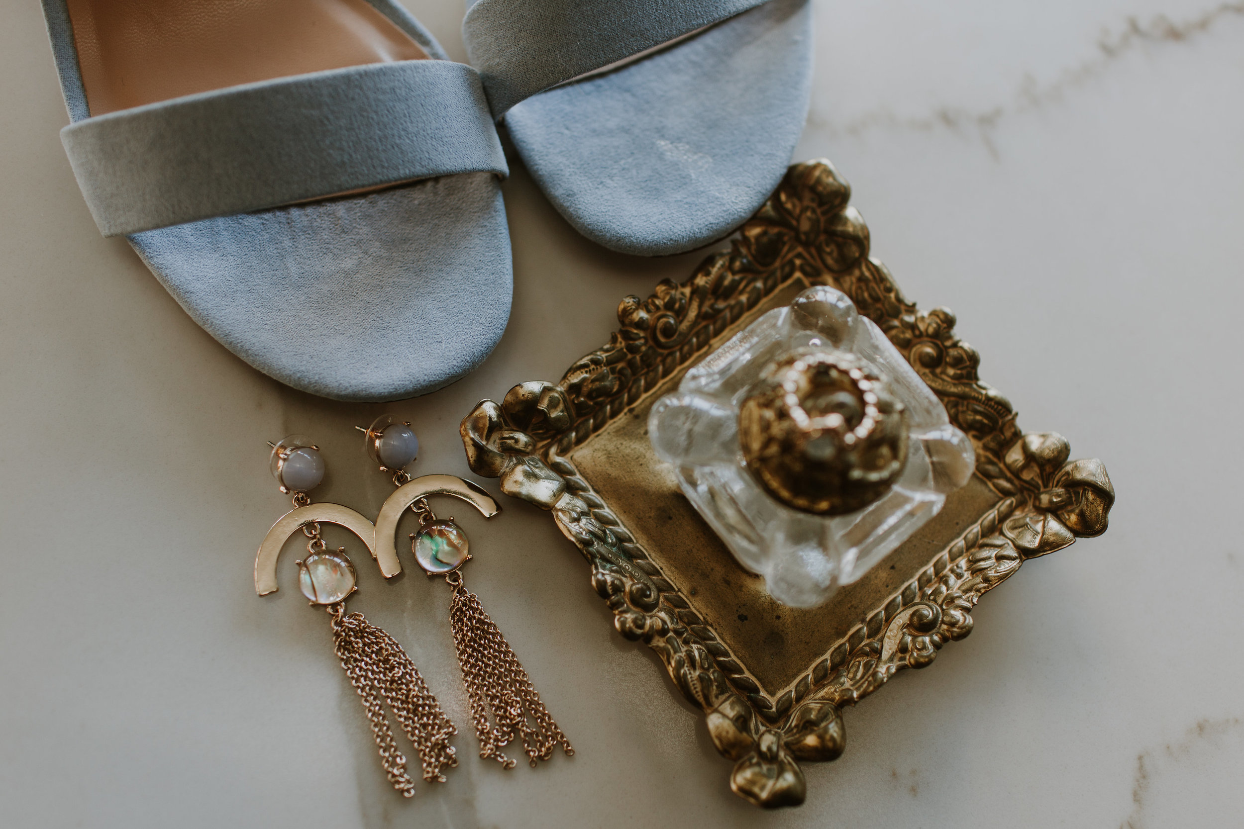 Vintage Bridal Accessories Chicago Wedding Gabrielle Daylor Photography