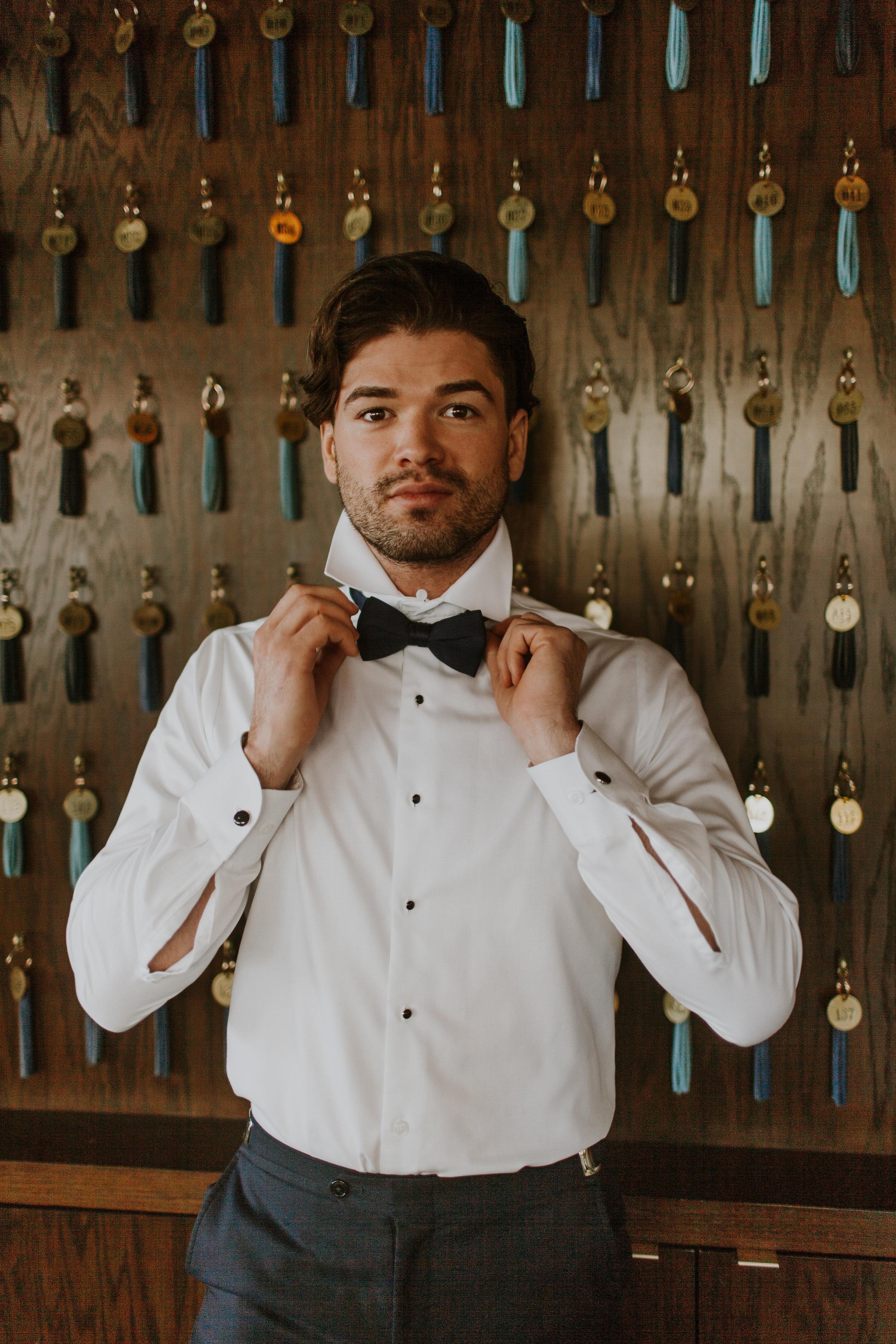 Groom Portrait Chicago Wedding Gabrielle Daylor Photography