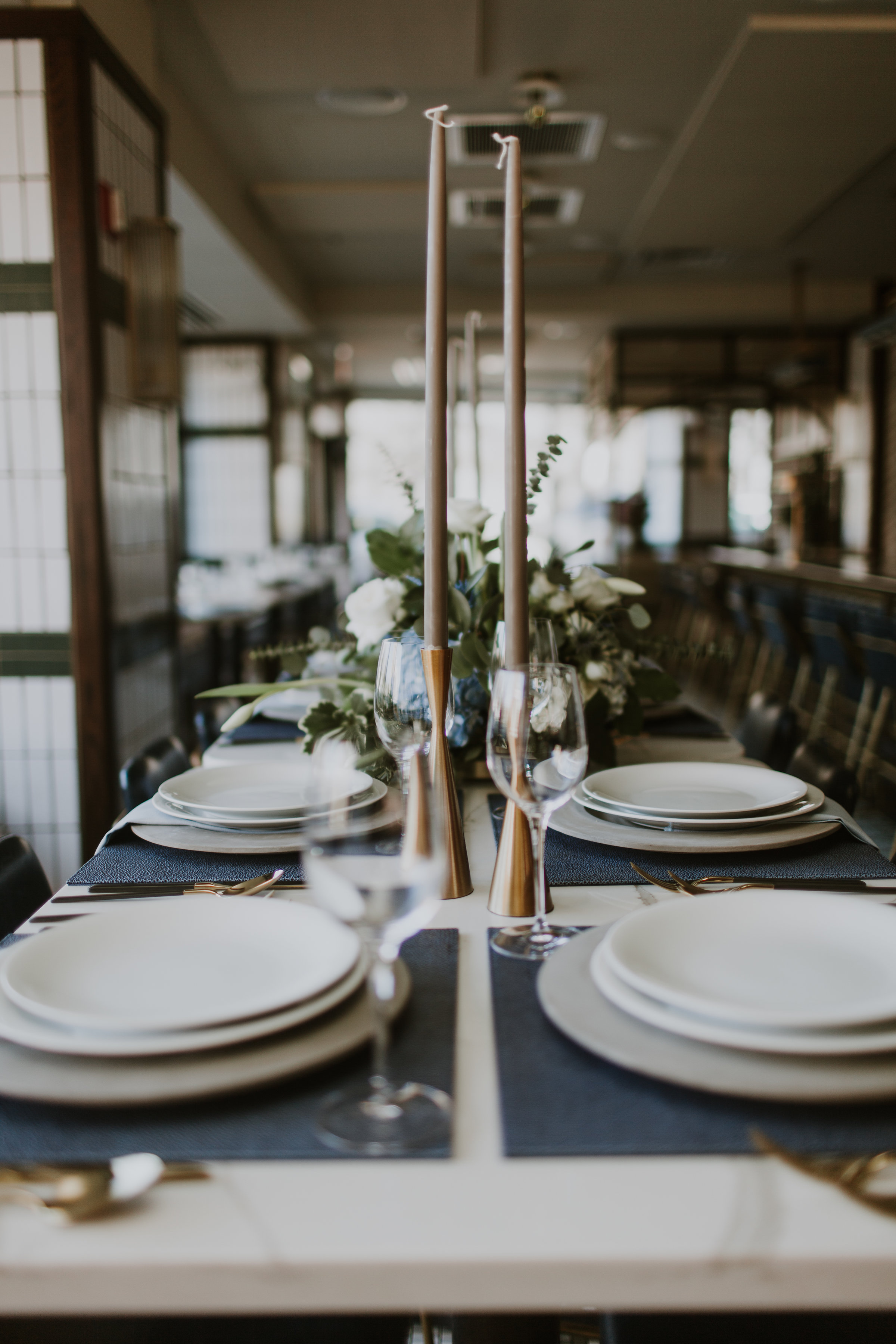 Classic Table Setting Chicago Wedding Gabrielle Daylor Photography