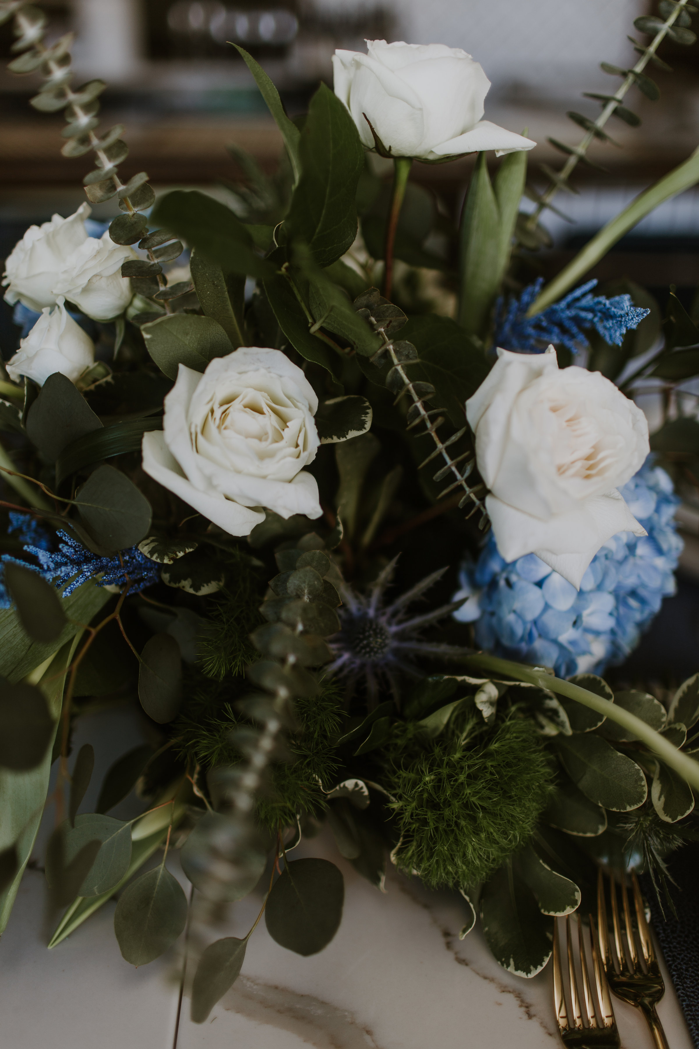White Rose and Greenery Bridal Bouquet Chicago Wedding Gabrielle Daylor Photography
