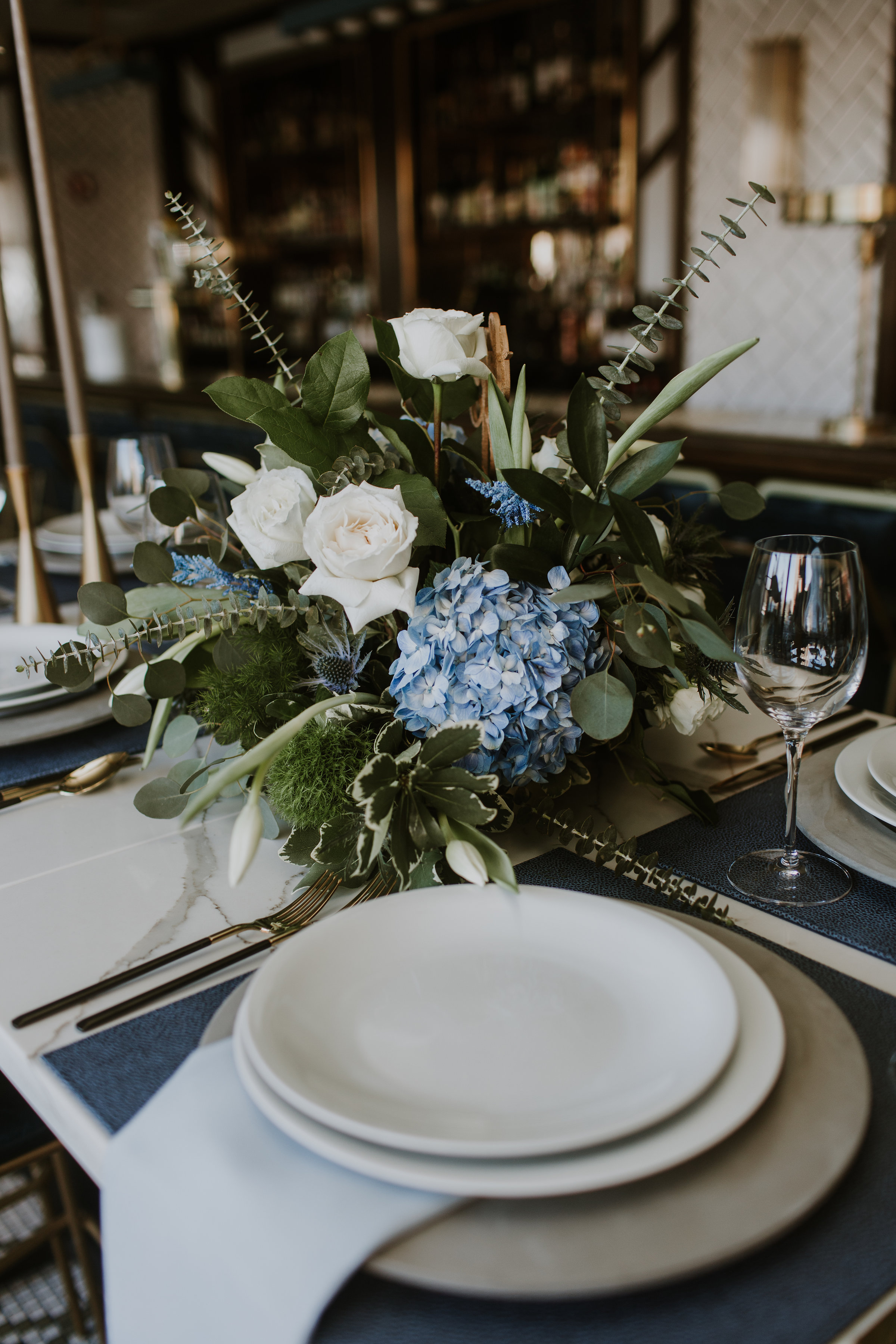 Greenery Table Centerpiece Chicago Wedding Gabrielle Daylor Photography