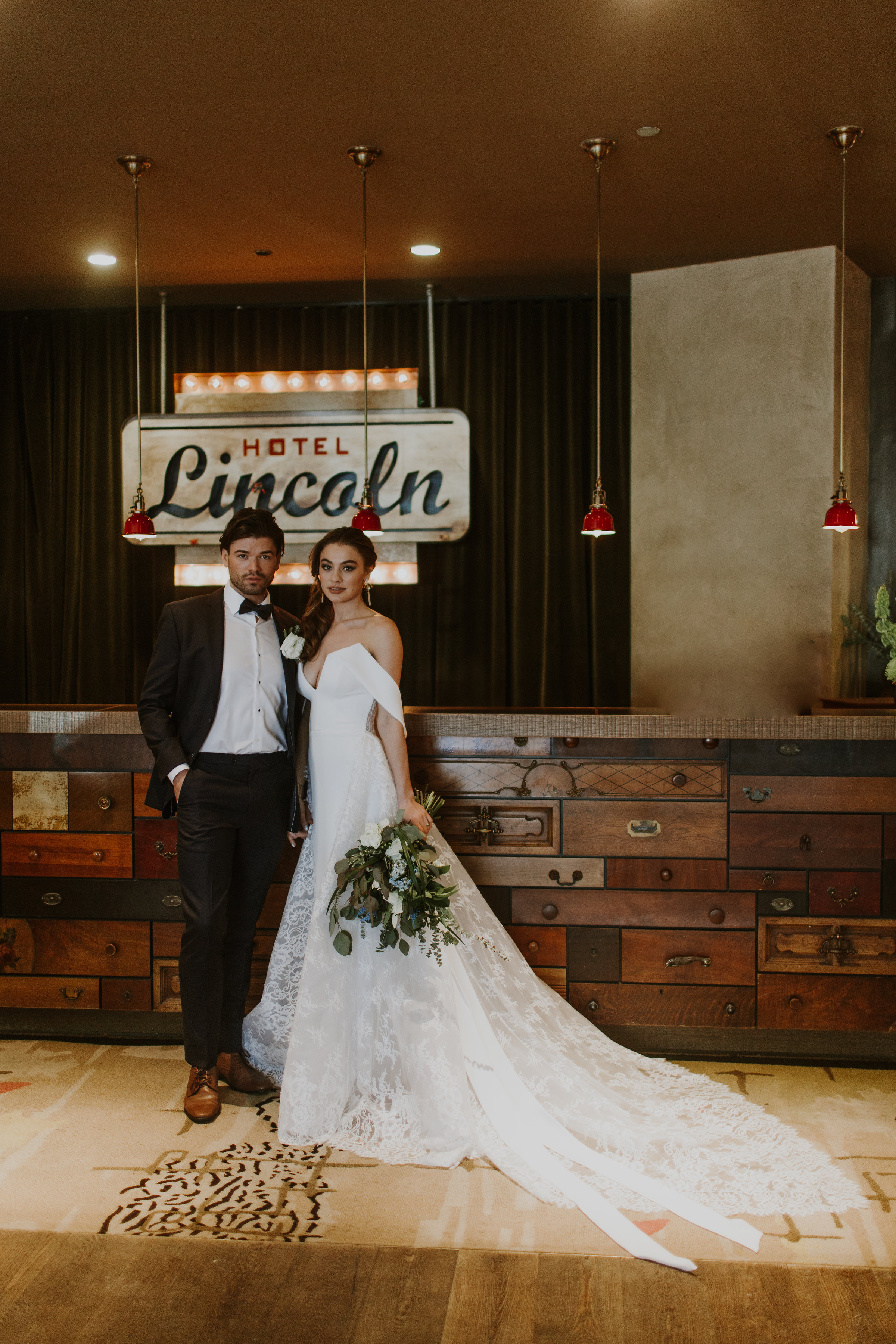 Bride and Groom Portrait Chicago Rooftop Wedding Gabrielle Daylor Photography