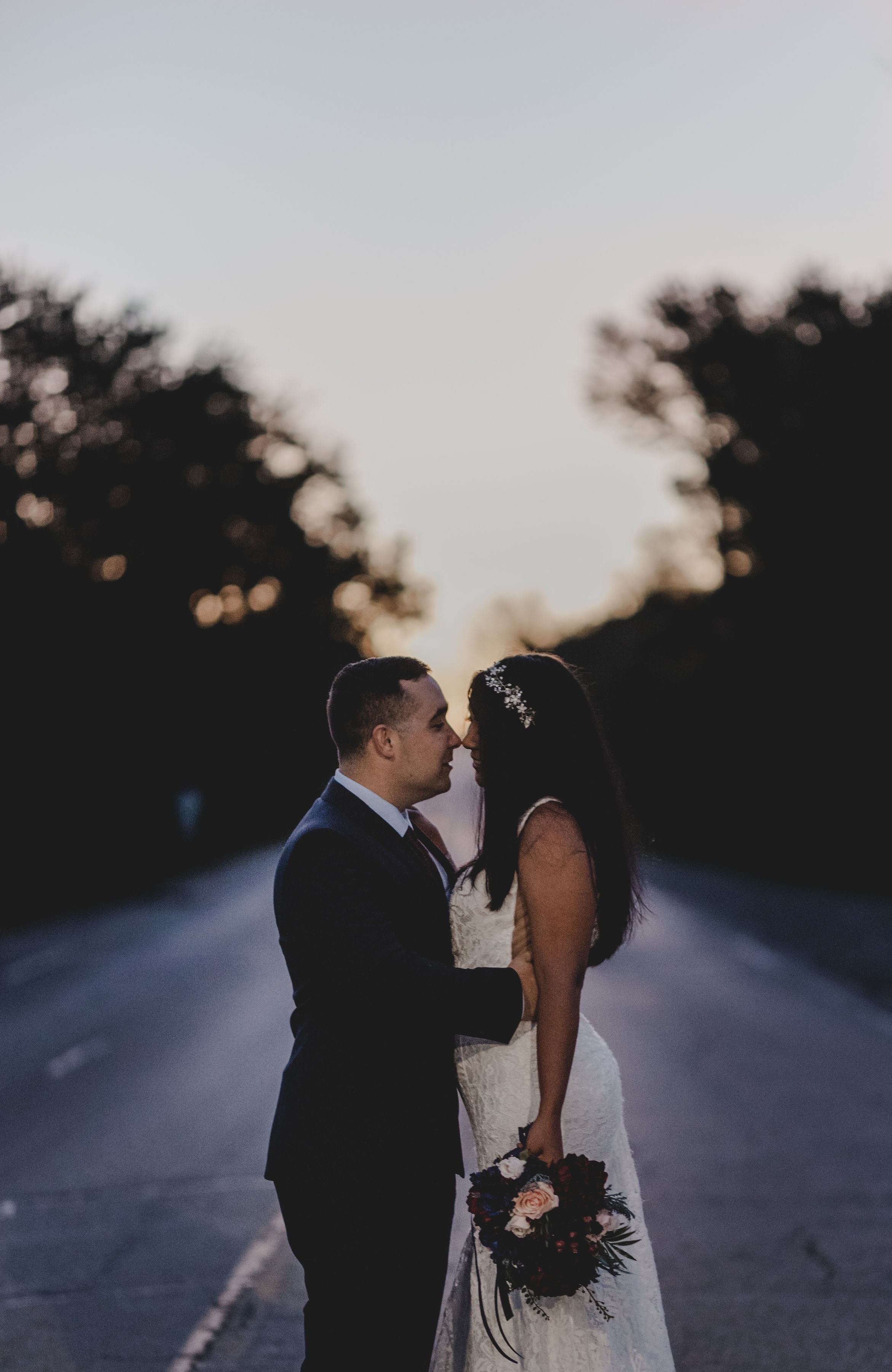 Bride and Groom Portrait Chicago Elopement Jenn Marie Photography