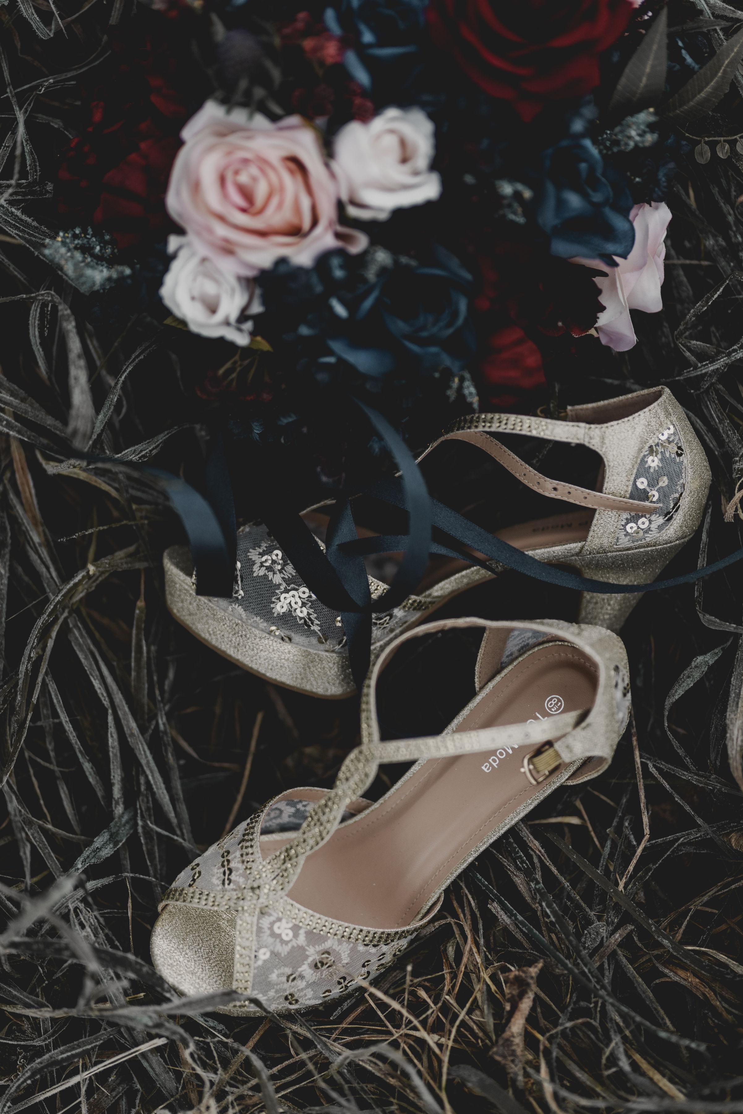 Sparkle Heels Chicago Wedding Jenn Marie Photography
