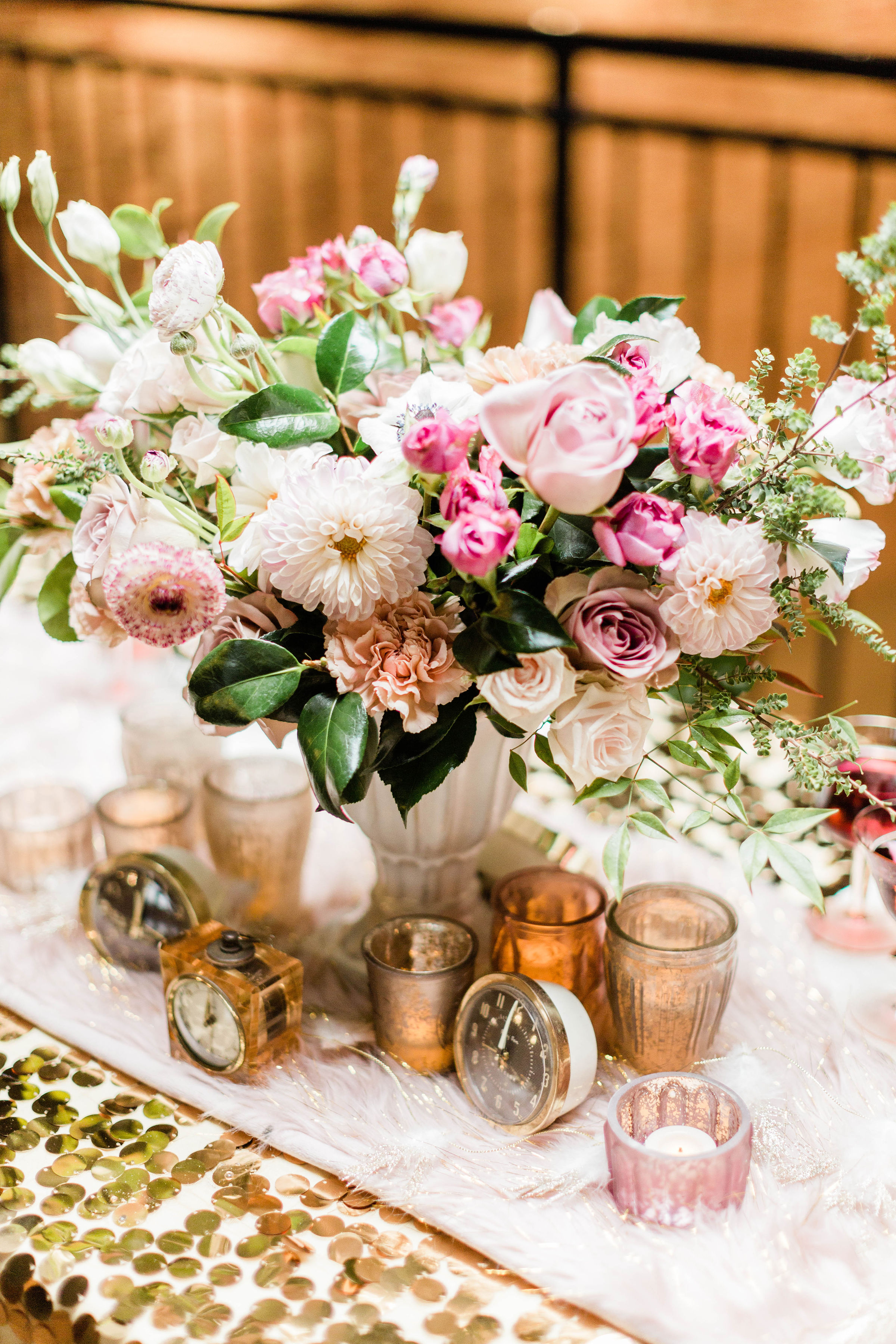 Pink Roses and Carnations Wedding Bouquet Photography by Lauryn