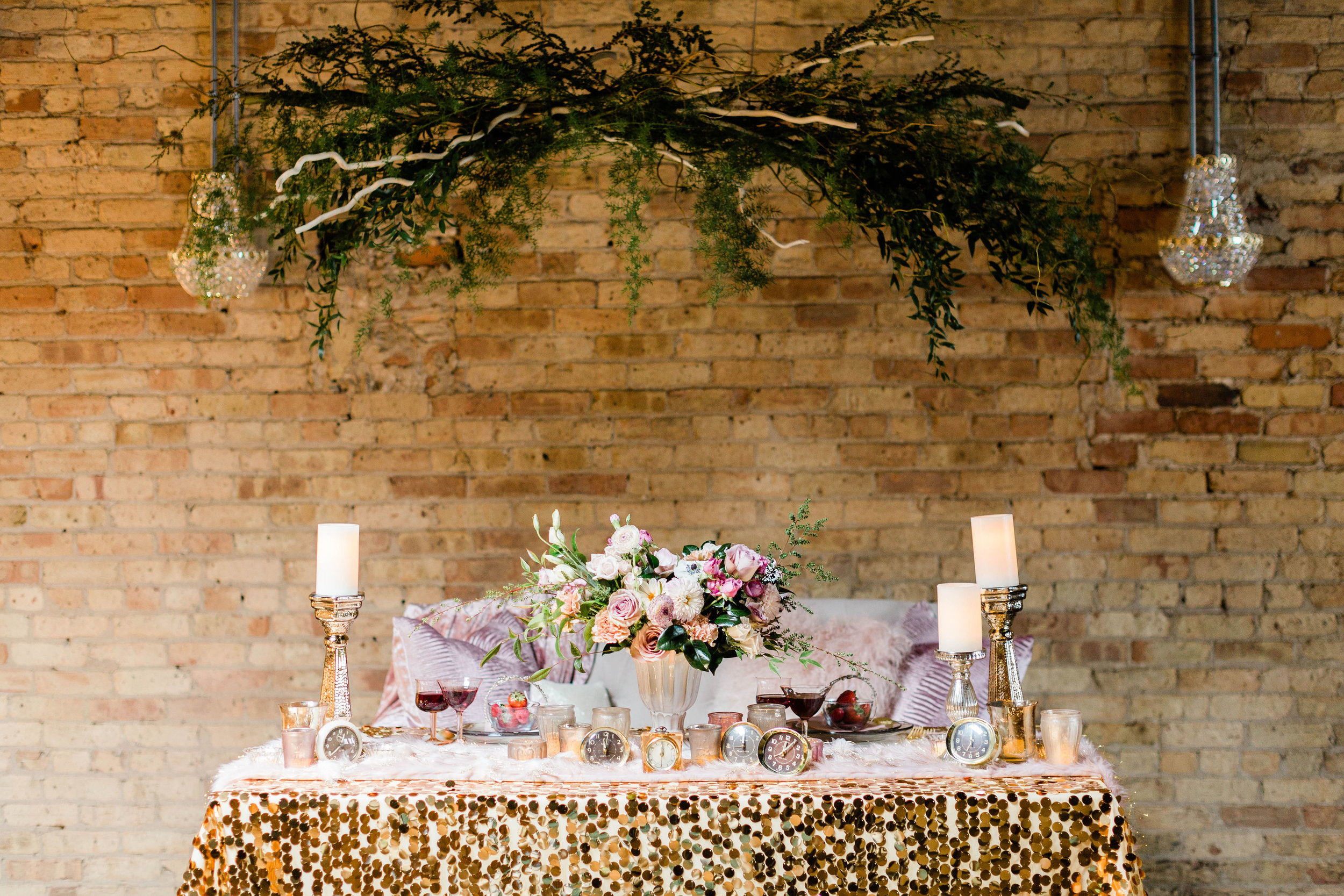 Pink and Gold Chicago Wedding Photography by Lauryn