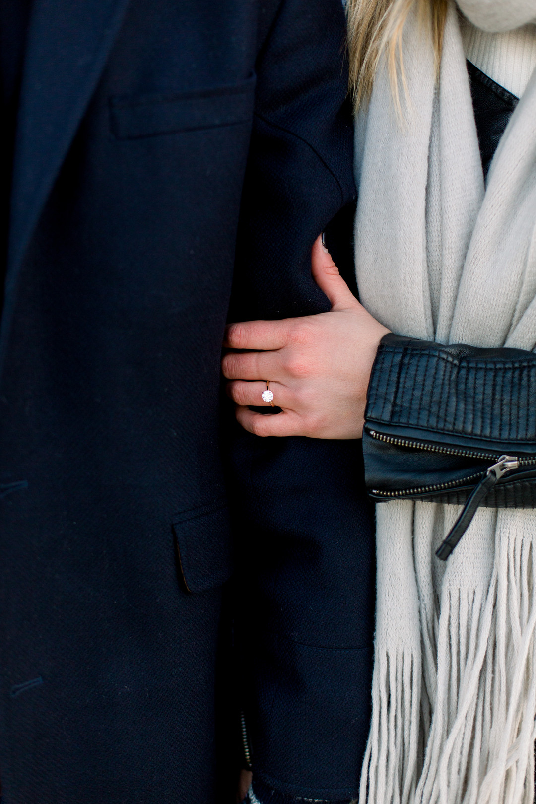 Solitaire Engagement Ring Chicago North Avenue Beach Proposal Nicole Morisco Photography