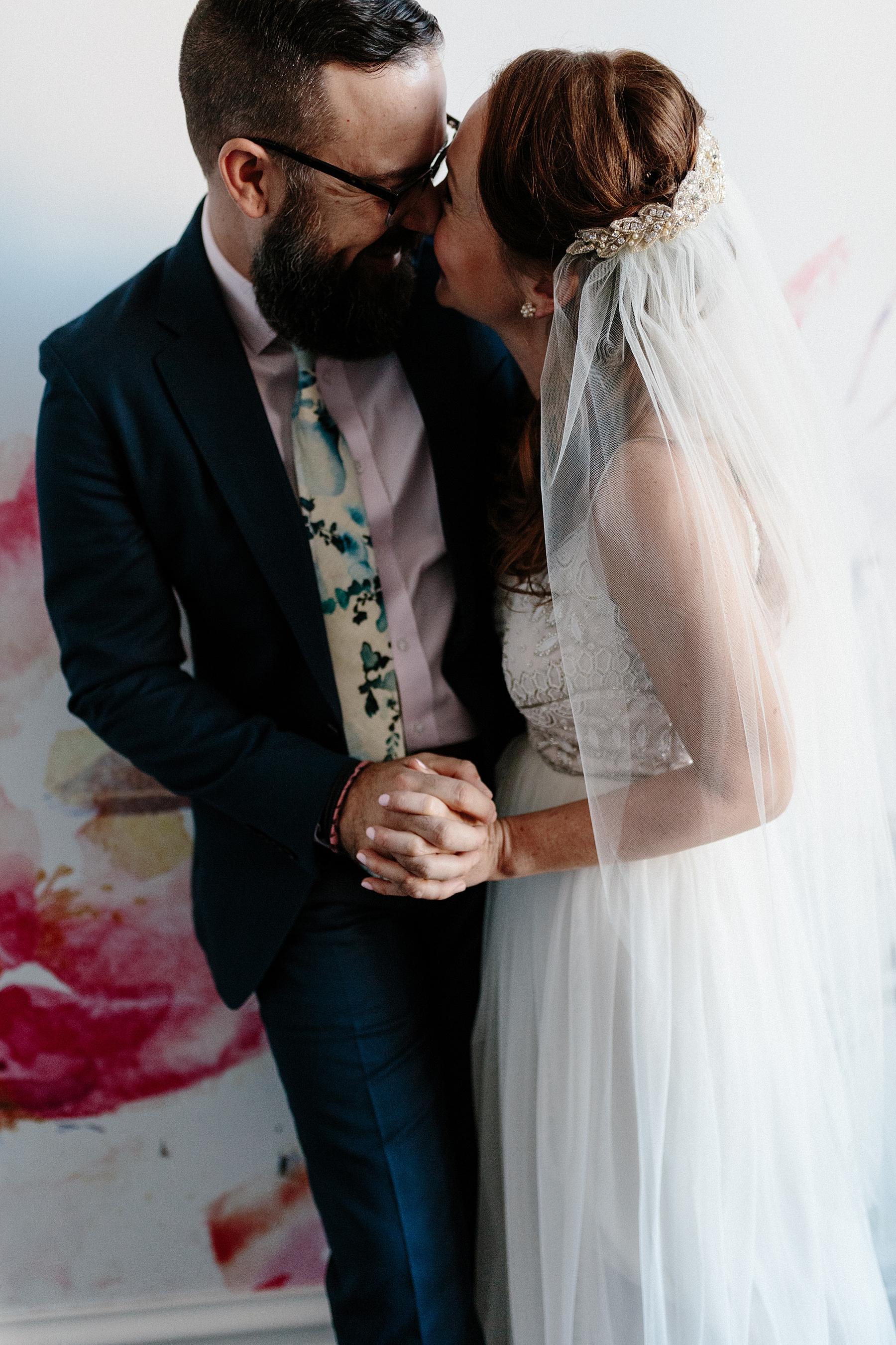 Bride and Groom Portrait Chicago Wedding lisa kathan photography