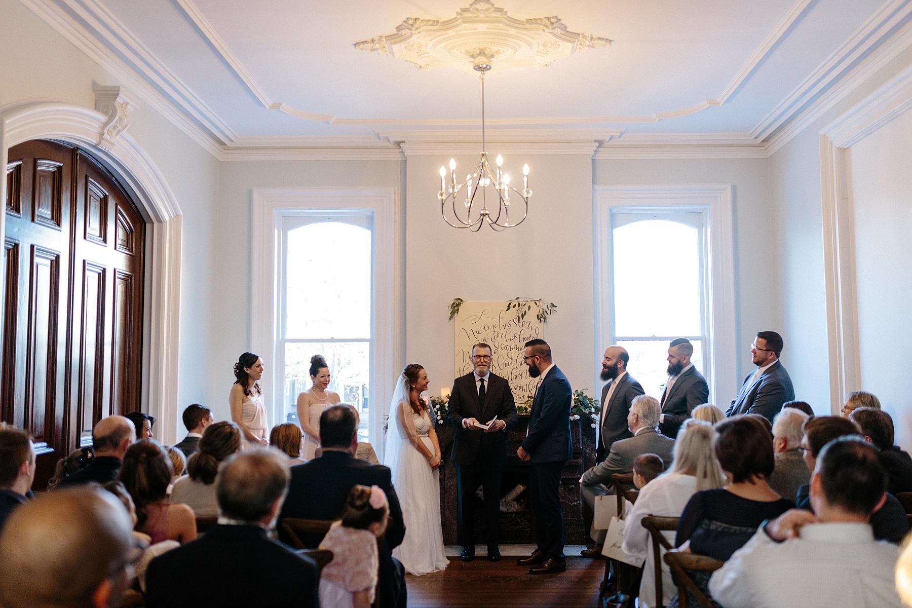 Intimate Chicago Wedding Ceremony lisa kathan photography