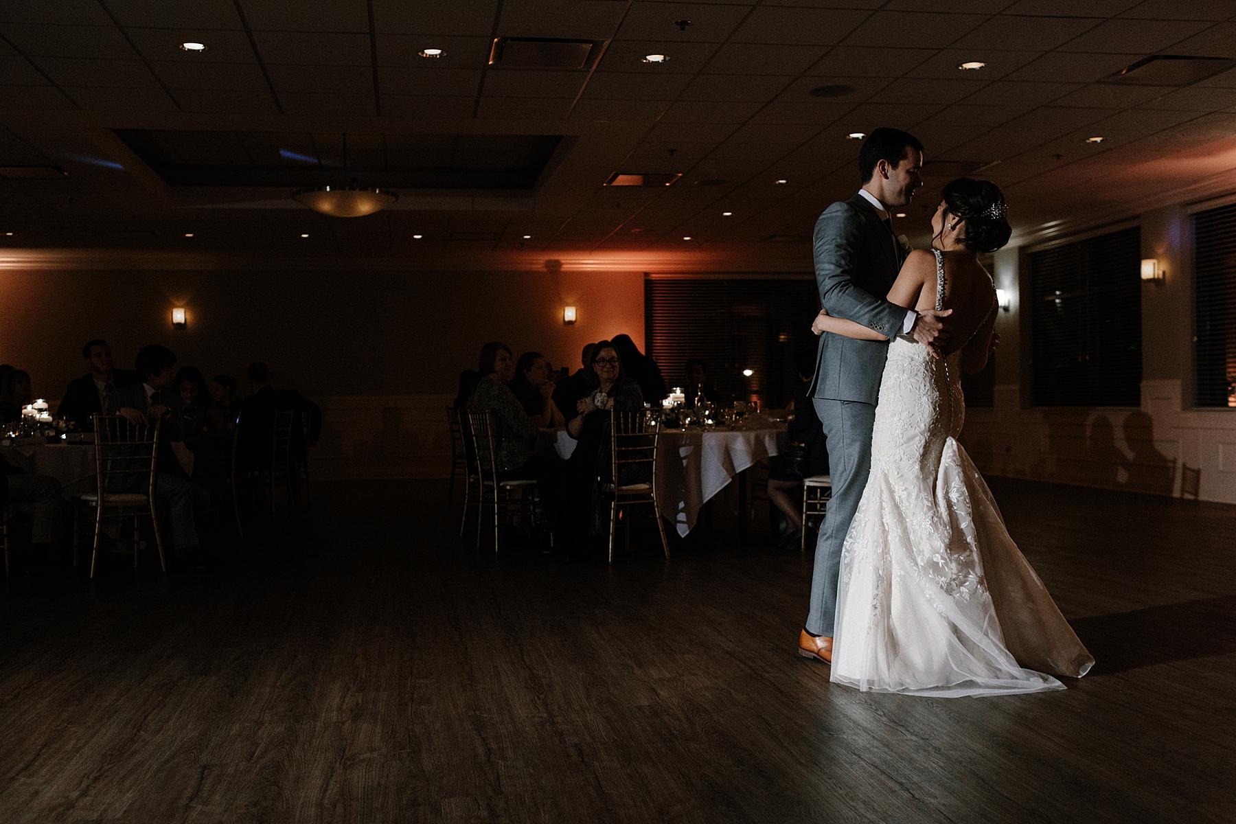 Bride and Groom First Dance Chicago Wedding lisa kathan photography