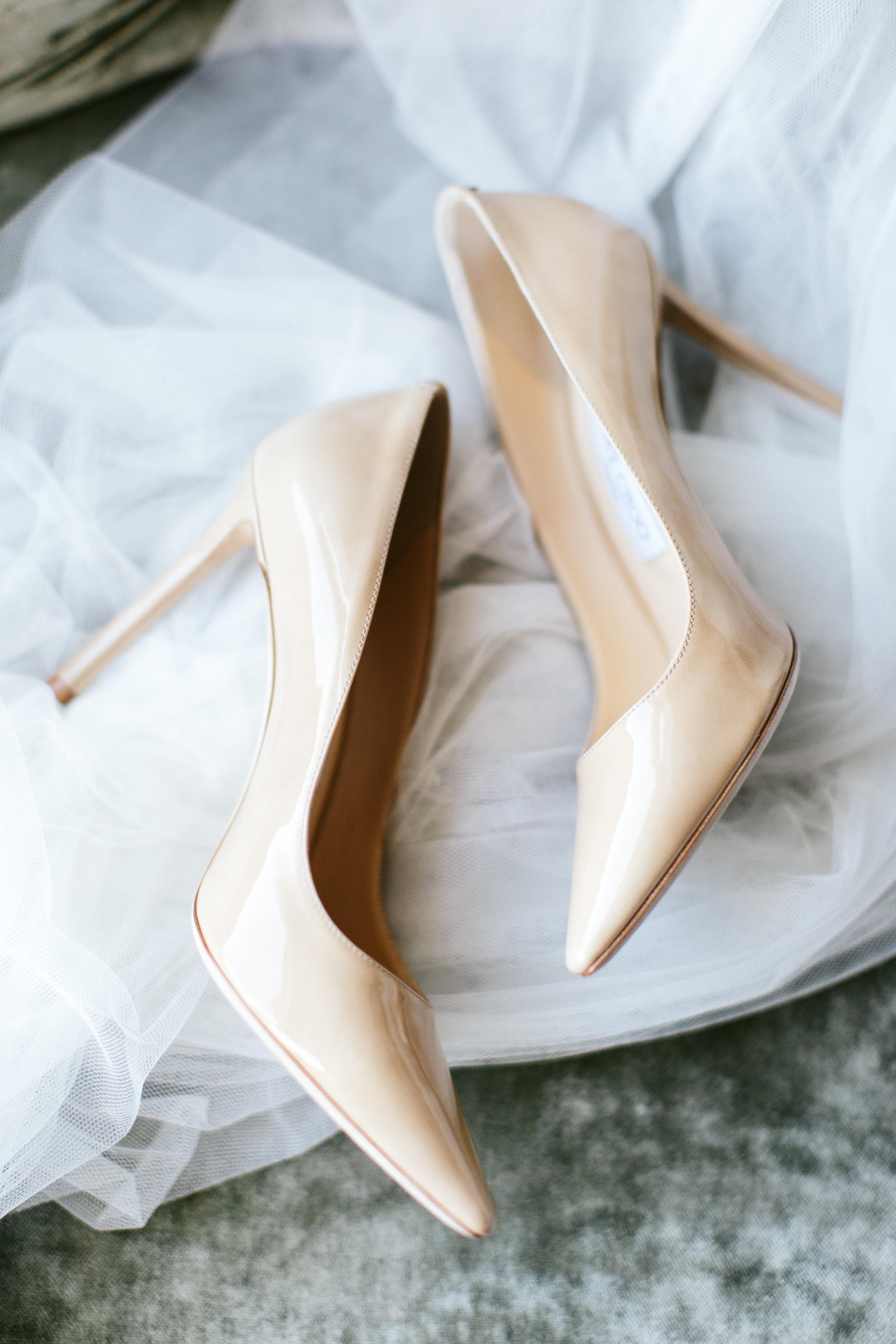 Nude Bridal Heels Chicago Wedding Nicodem Creative