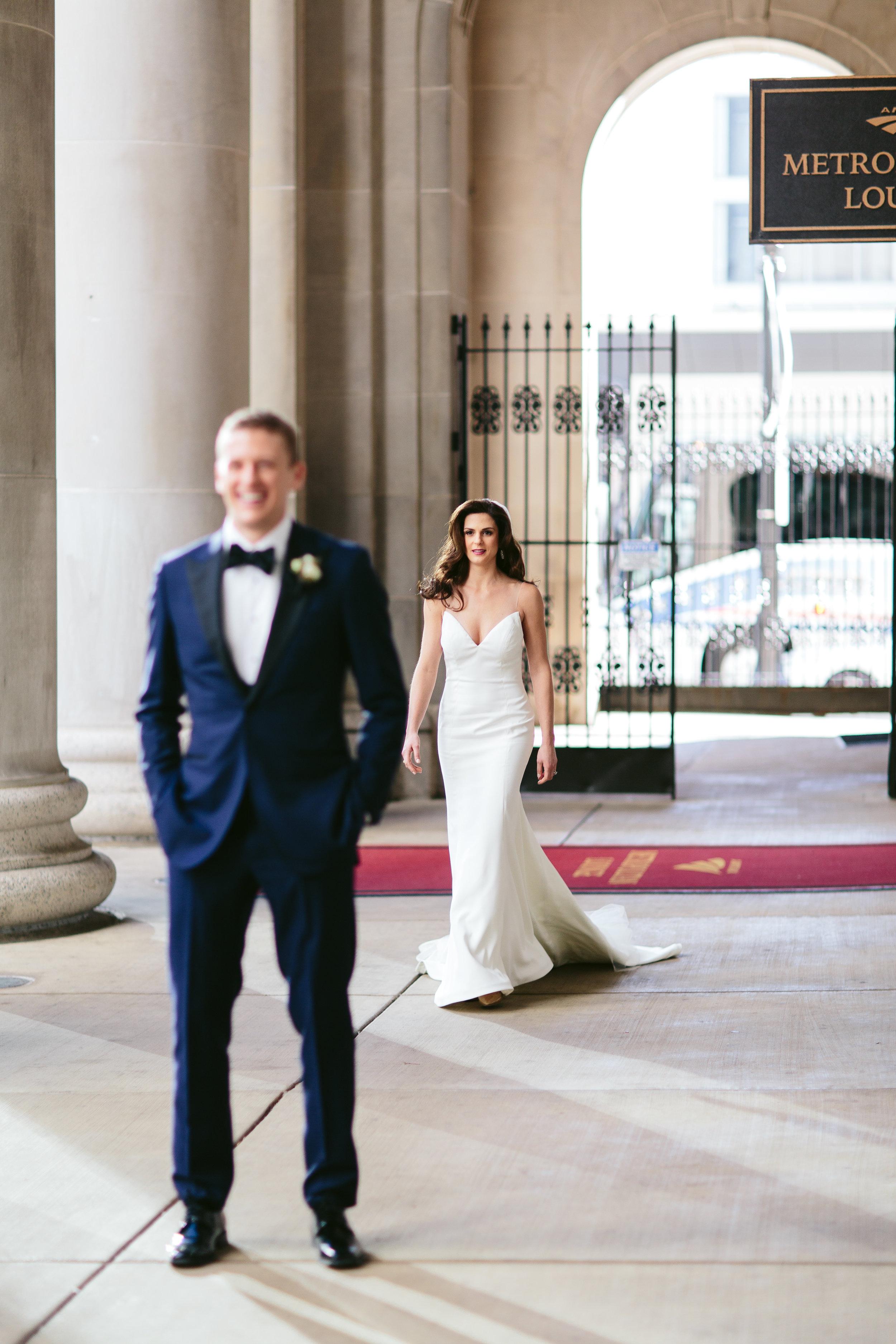 First Look Chicago Wedding Nicodem Creative