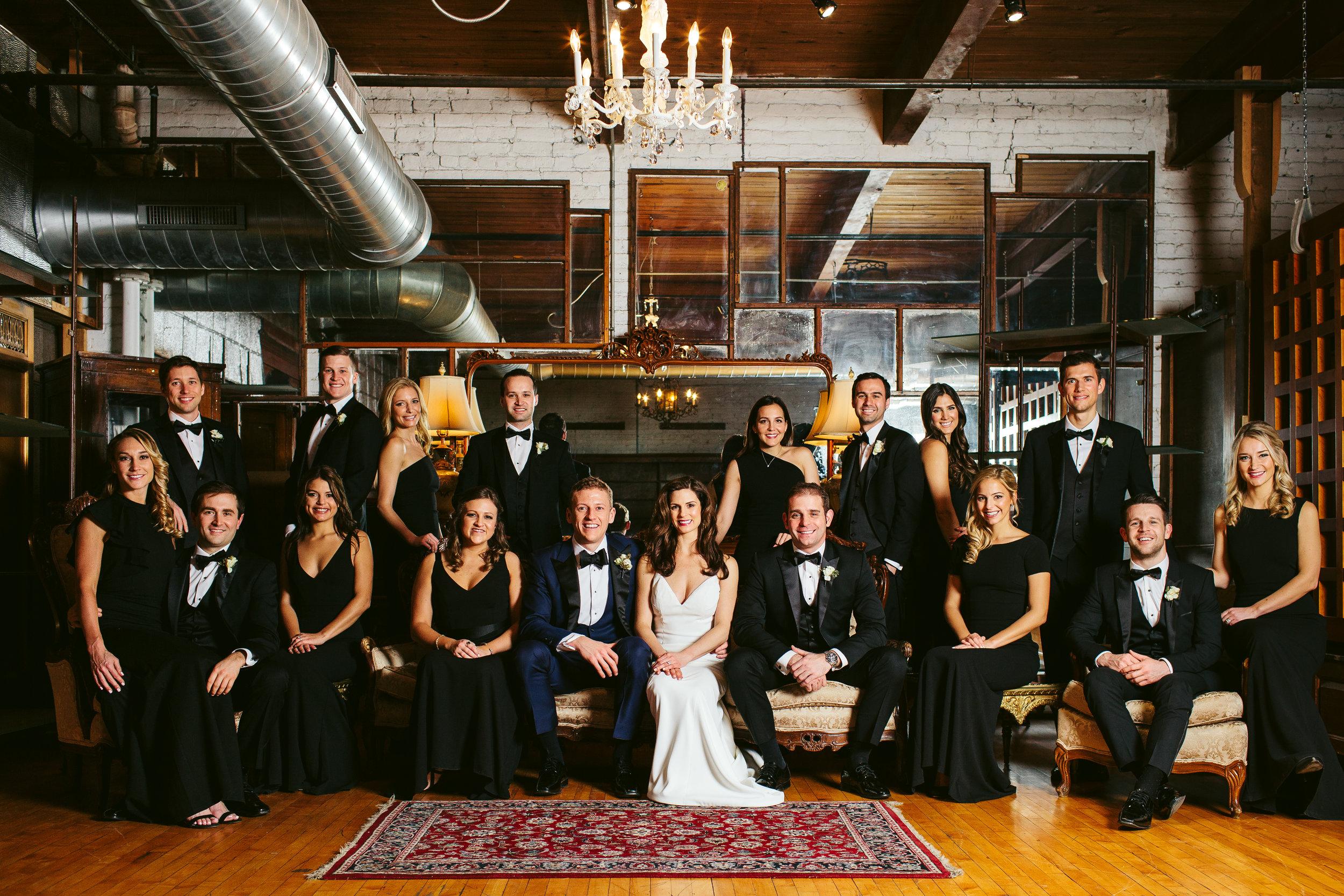 Black and Navy Bridal Party Chicago Wedding Nicodem Creative