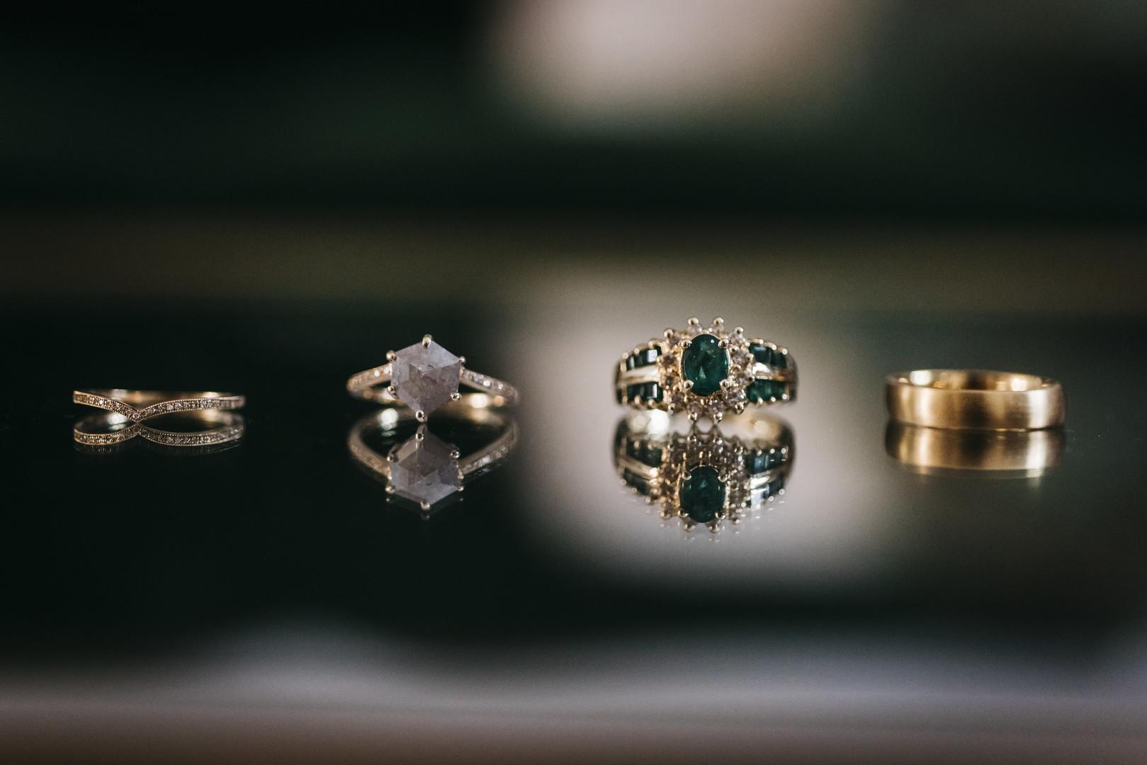 Emerald Vintage Engagement Ring Erin Hoyt Photography