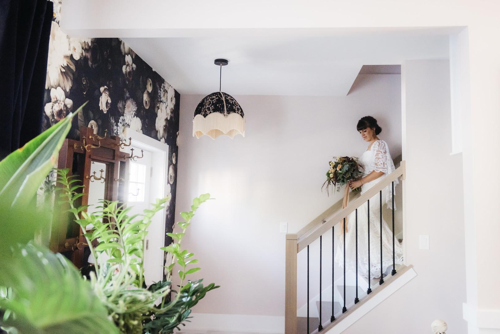Bridal Candid Intimate Chicago Wedding Erin Hoyt Photography