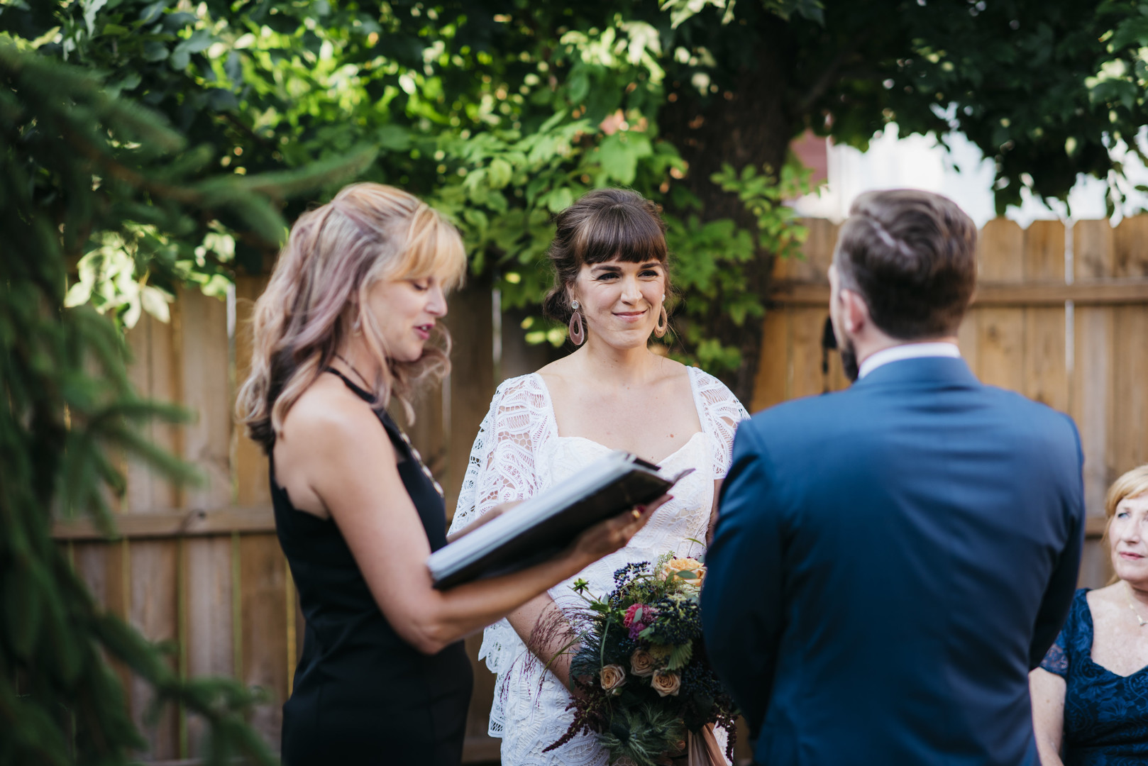 Intimate Backyard Wedding Chicago Erin Hoyt Photography