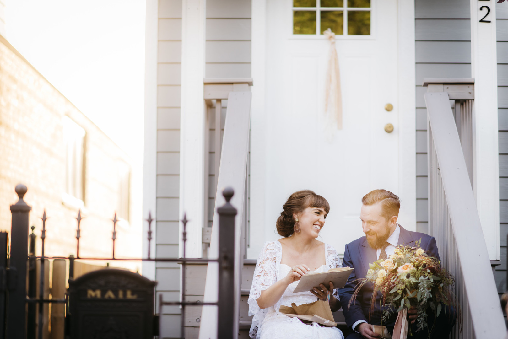 Front Porch Intimate Chicago Wedding Erin Hoyt Photography