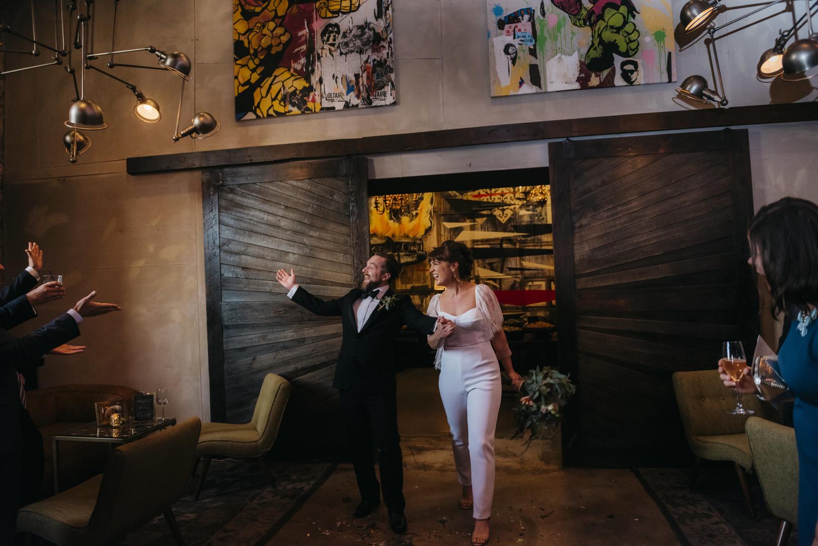 Stylish Bridal Jumpsuit Intimate Chicago Wedding Erin Hoyt Photography