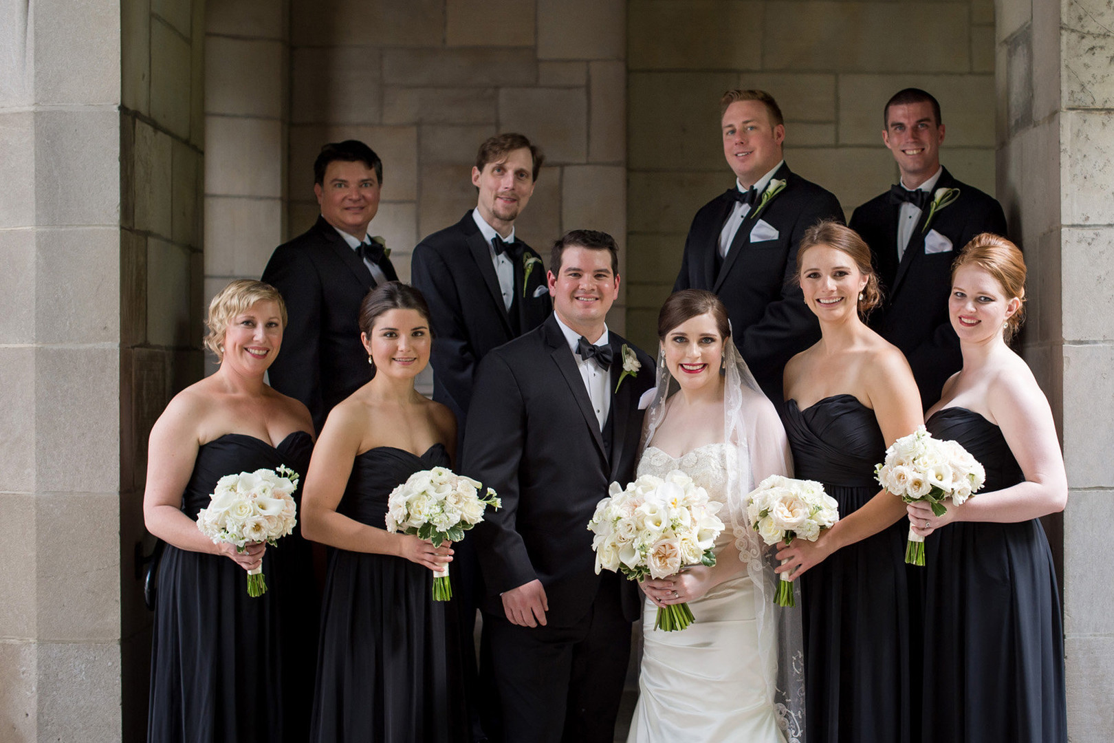 Black Bridal Party Julia Franzosa Photography