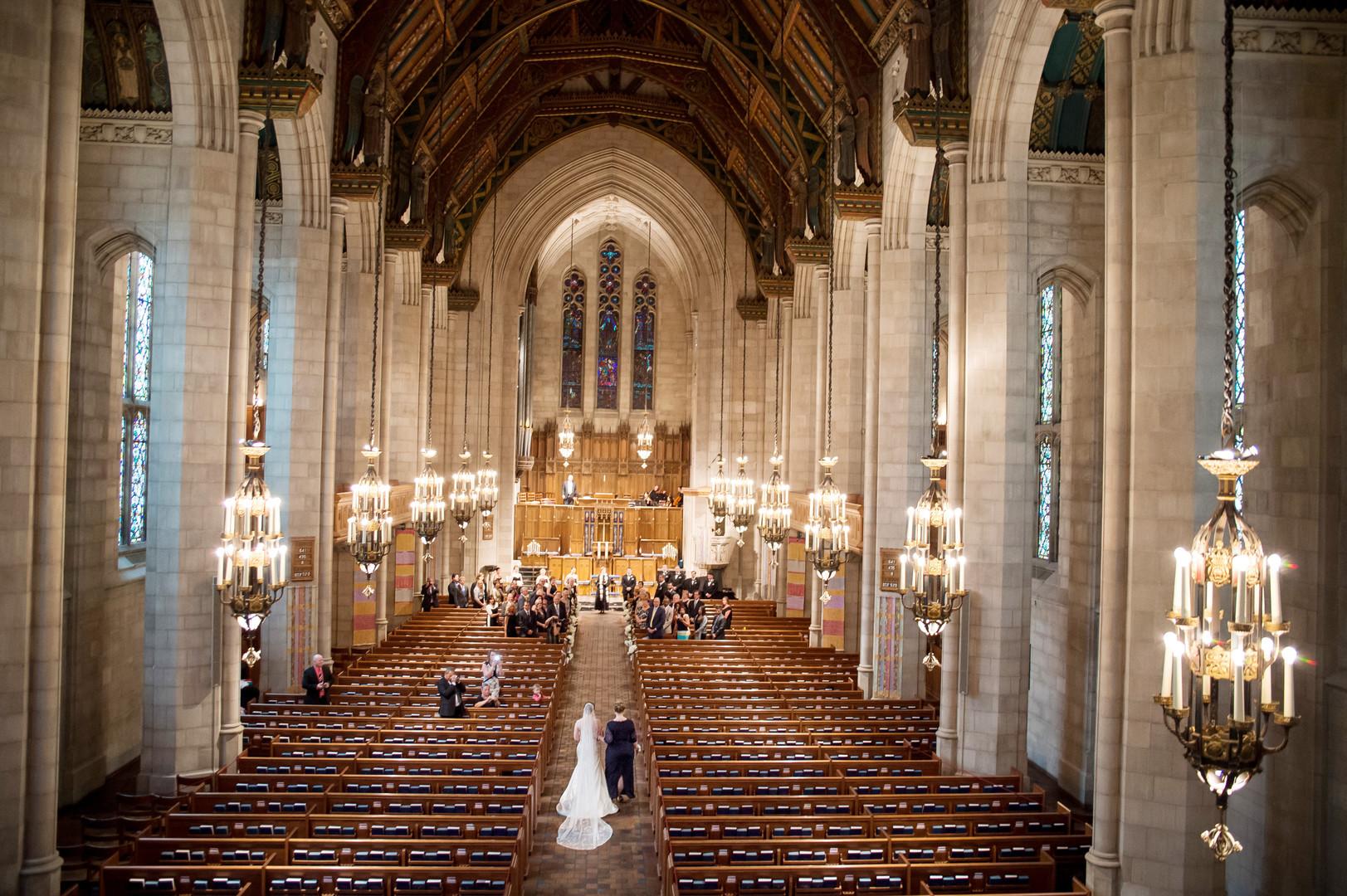 Grandiose First Presbyterian Church Wedding Ceremony Julia Franzosa Photography