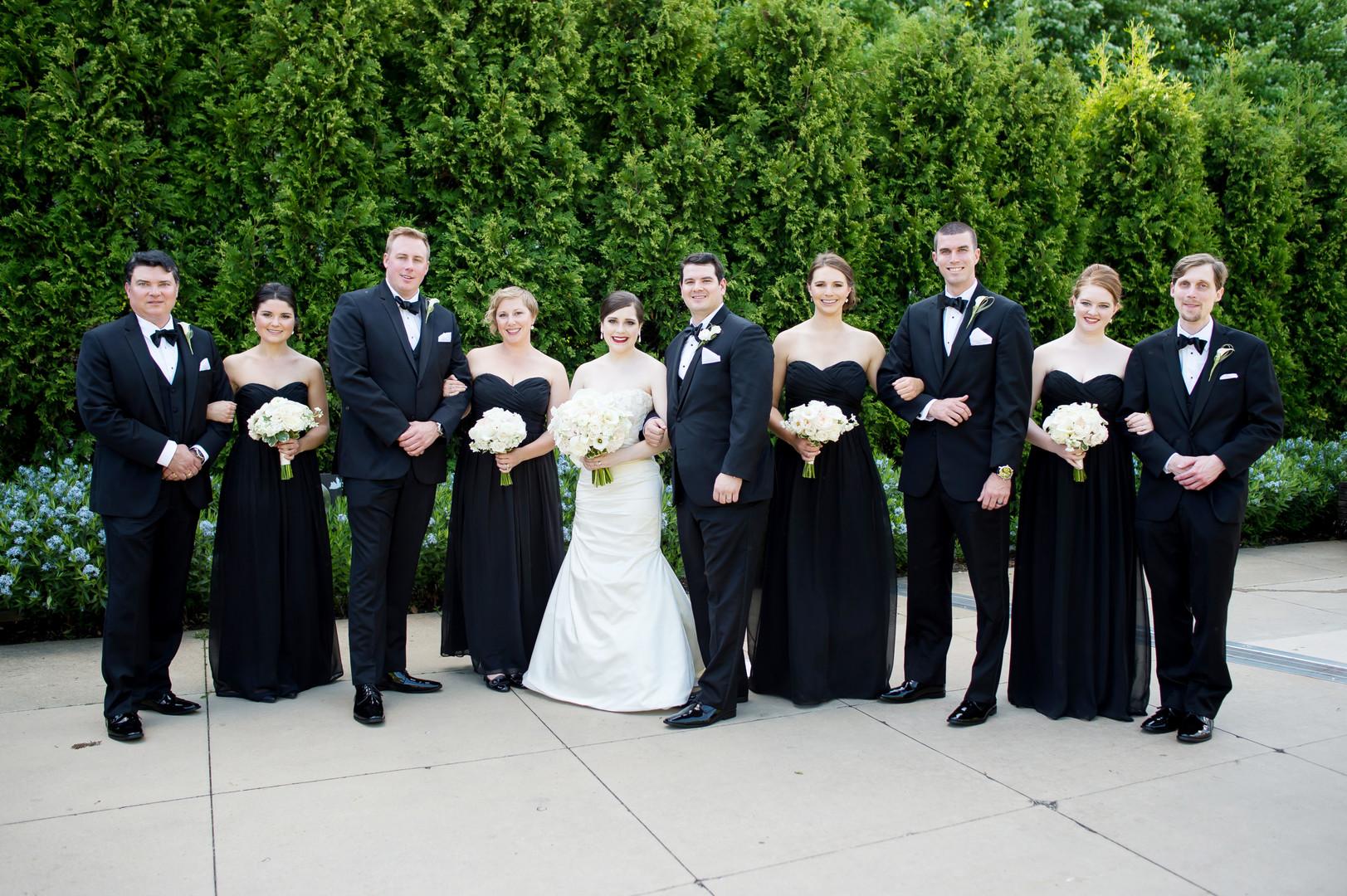 Black Bridal Party Chicago Wedding Julia Franzosa Photography