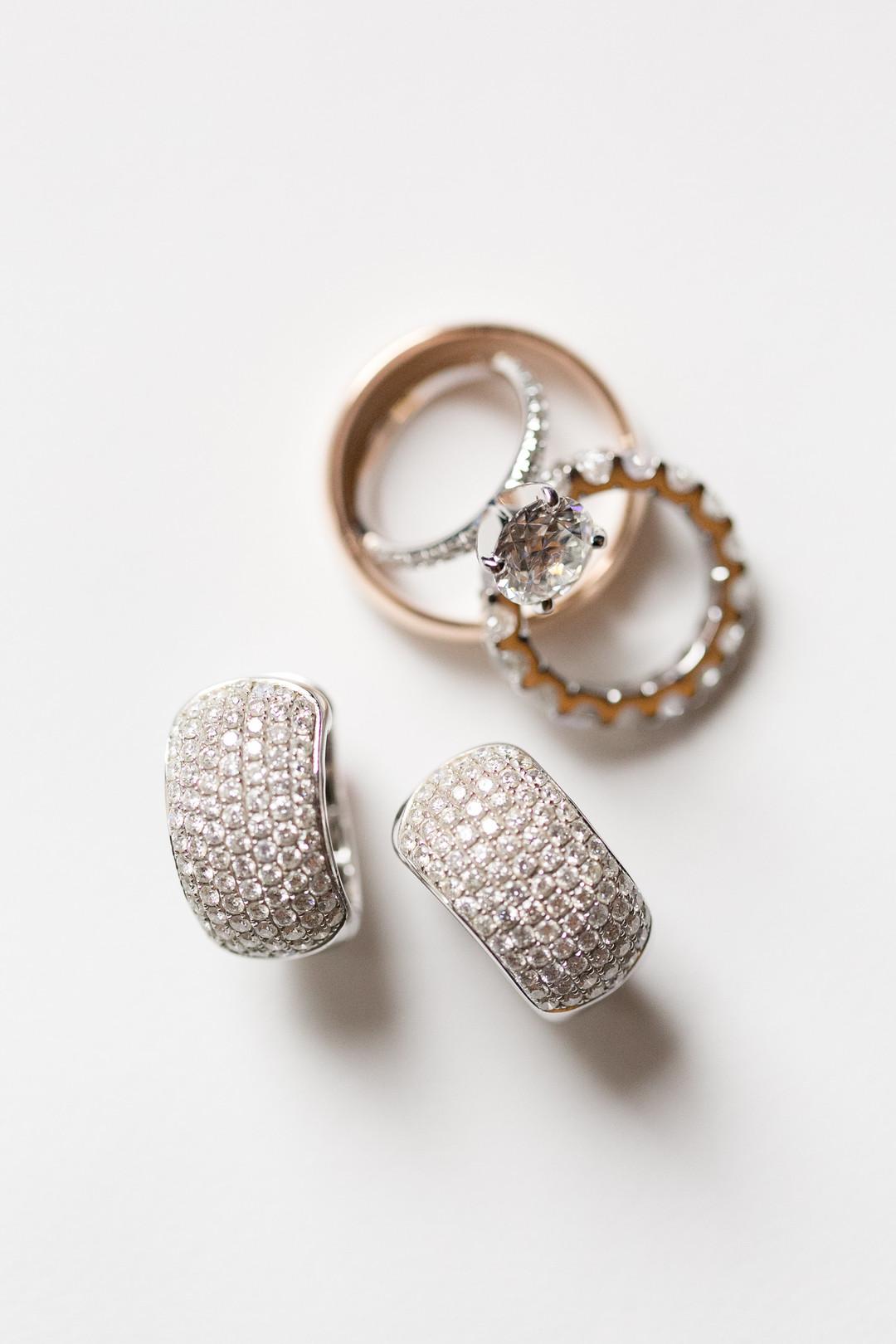 Elegant Wedding Bands and Jewelry Chicago Wedding Emilia Jane Photography